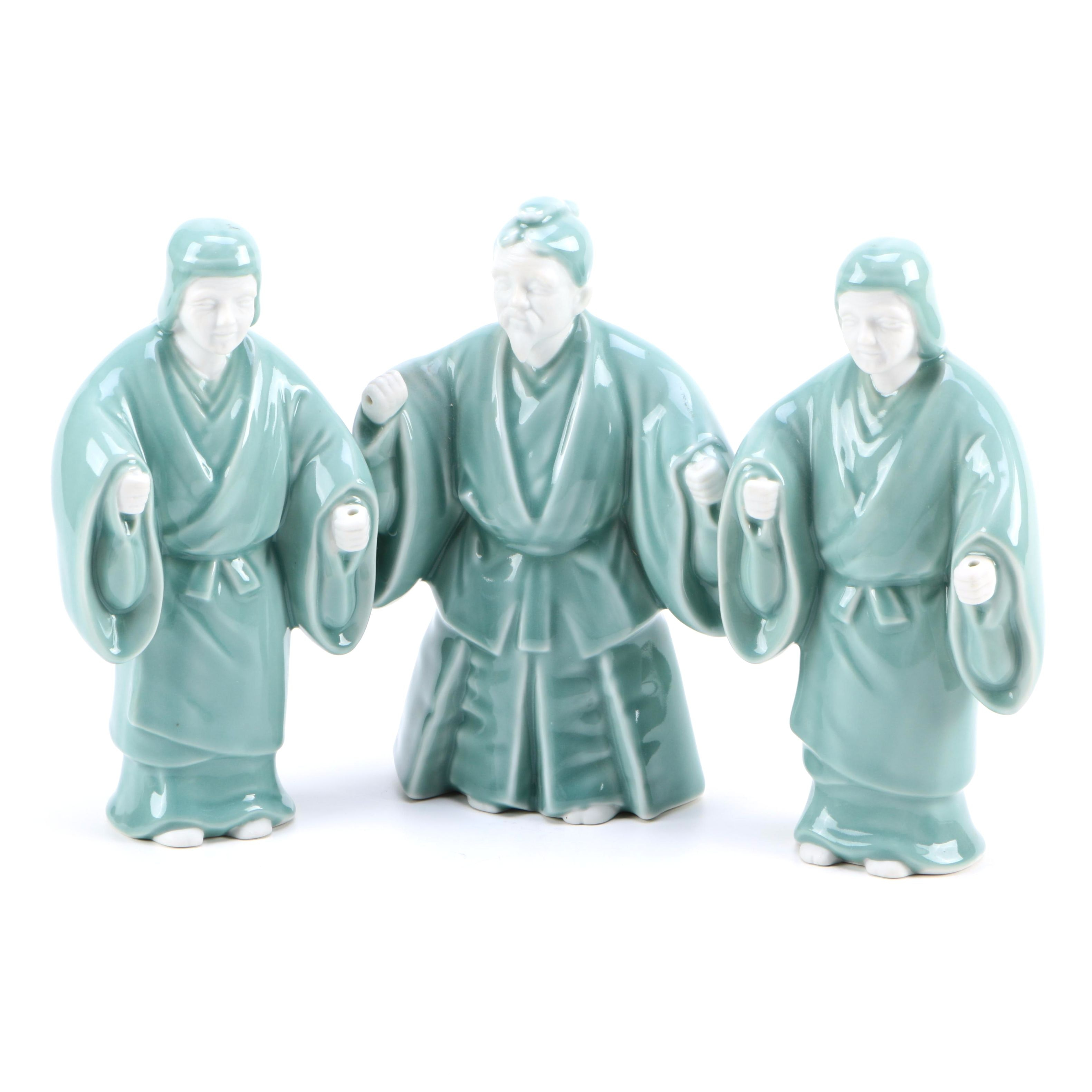 Stafford Asian Inspired Porcelain Figurines