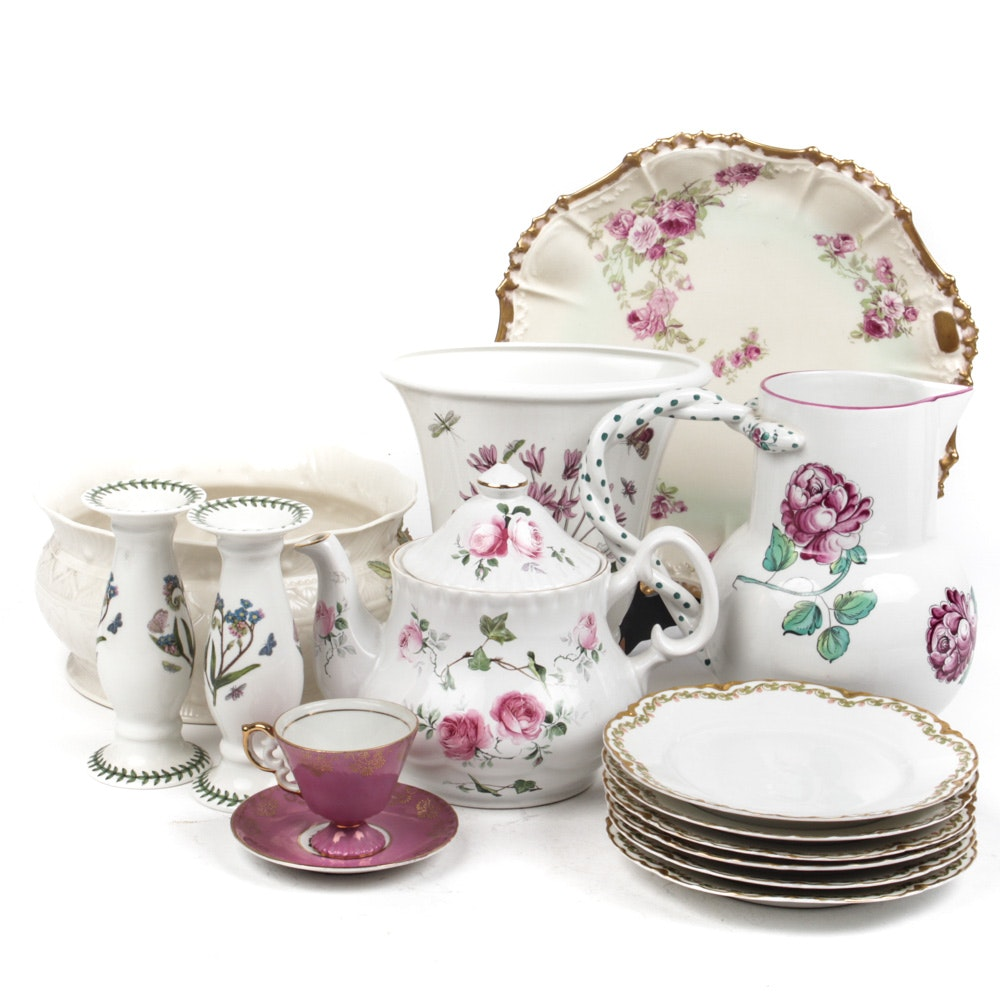 Tiffany & Co., Portmeiron and Belleek Floral China