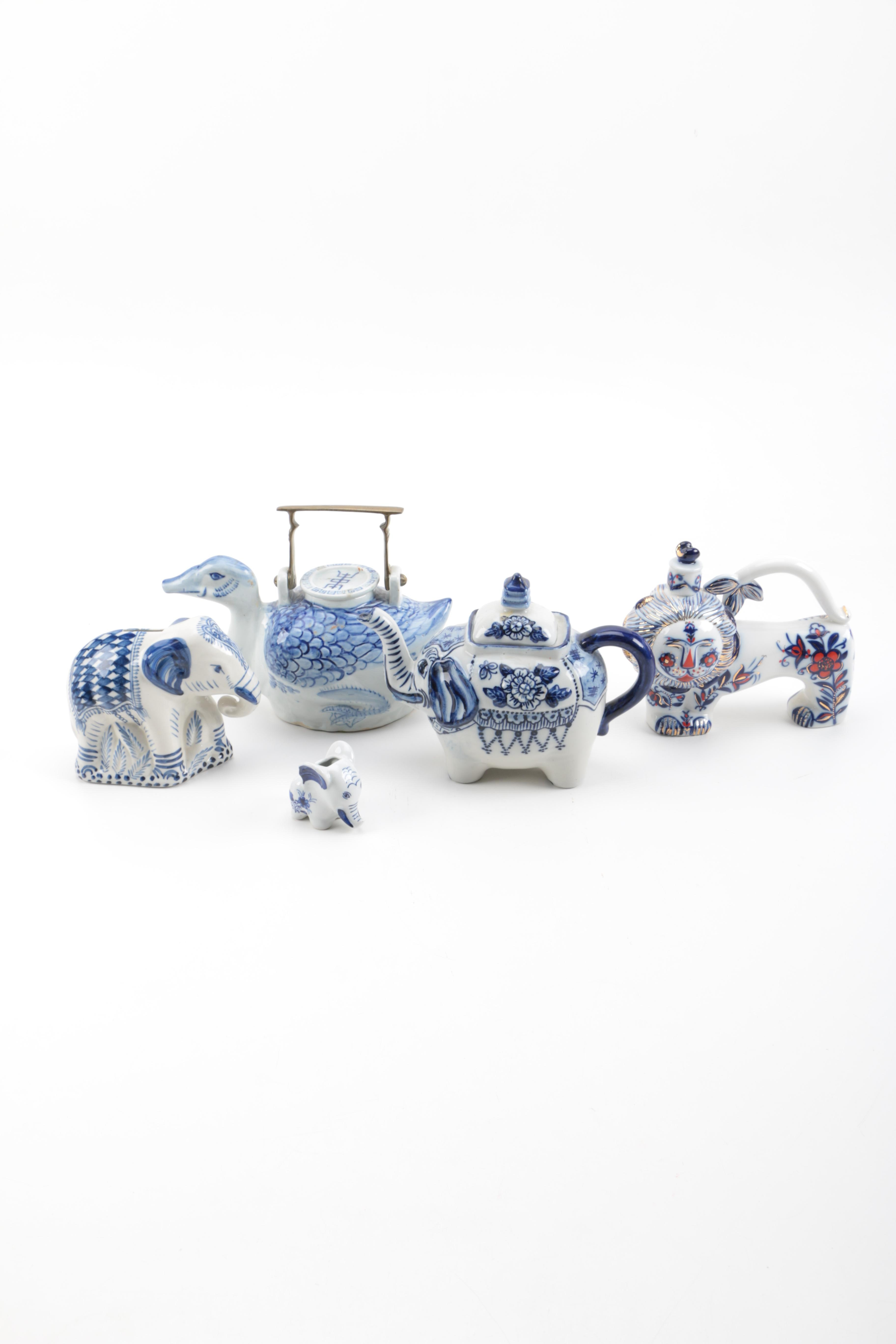 Ceramic Animal Teapots and Decanters