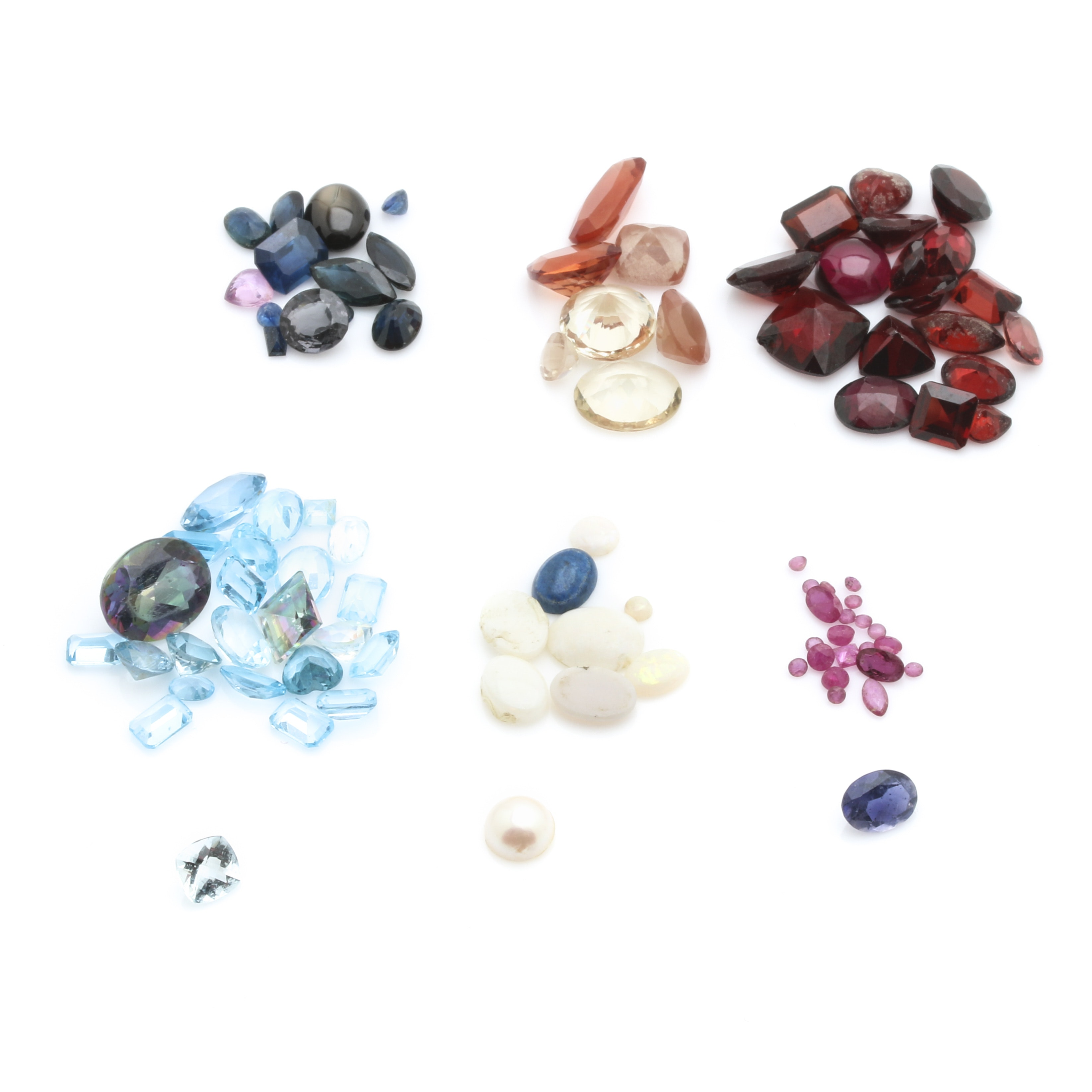 Large Assortment of Loose Gemstones