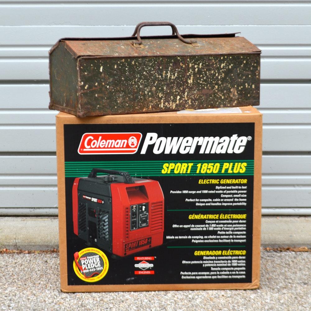 Coleman Powermate Generator and Vintage Hand Tools