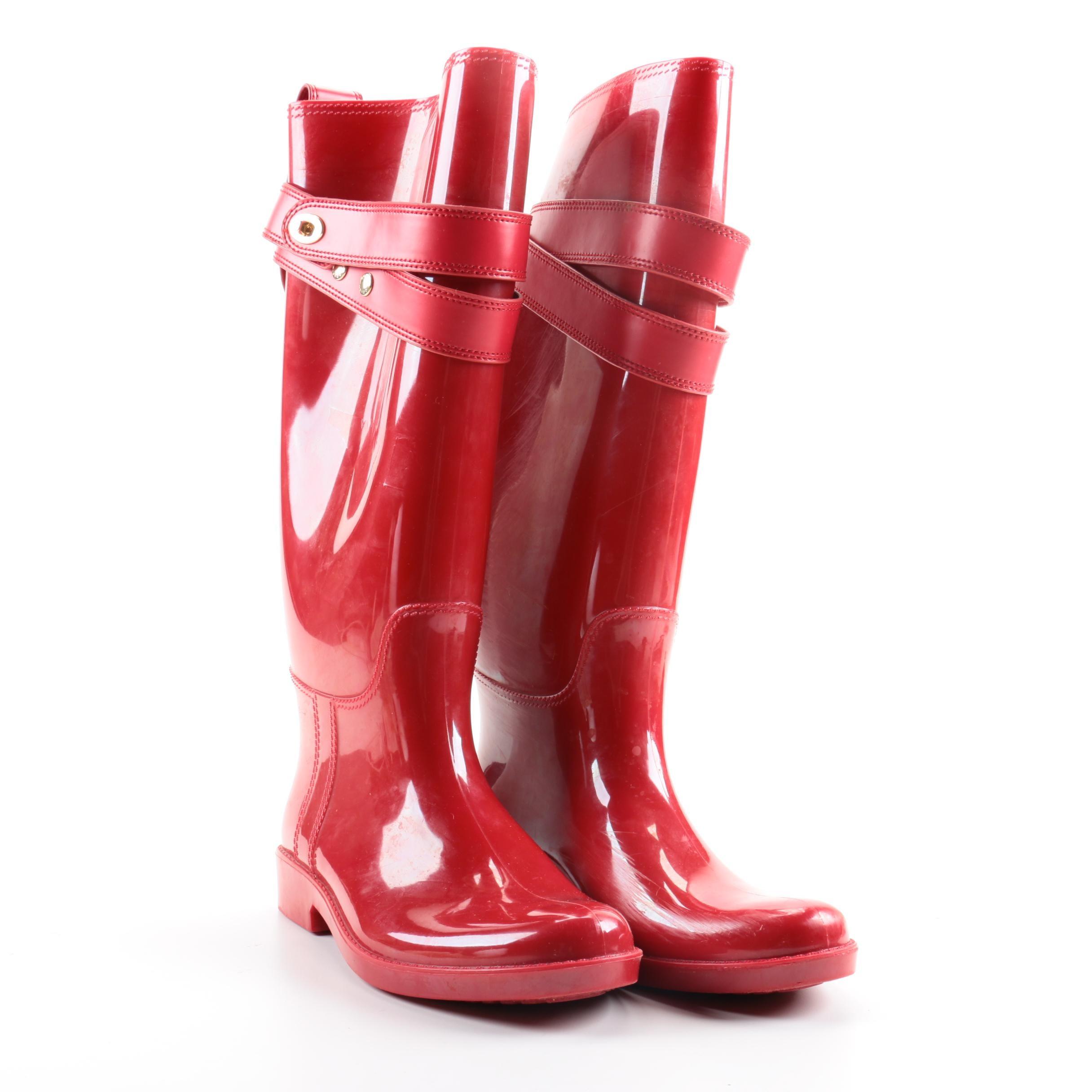 Coach Red Rain Boots