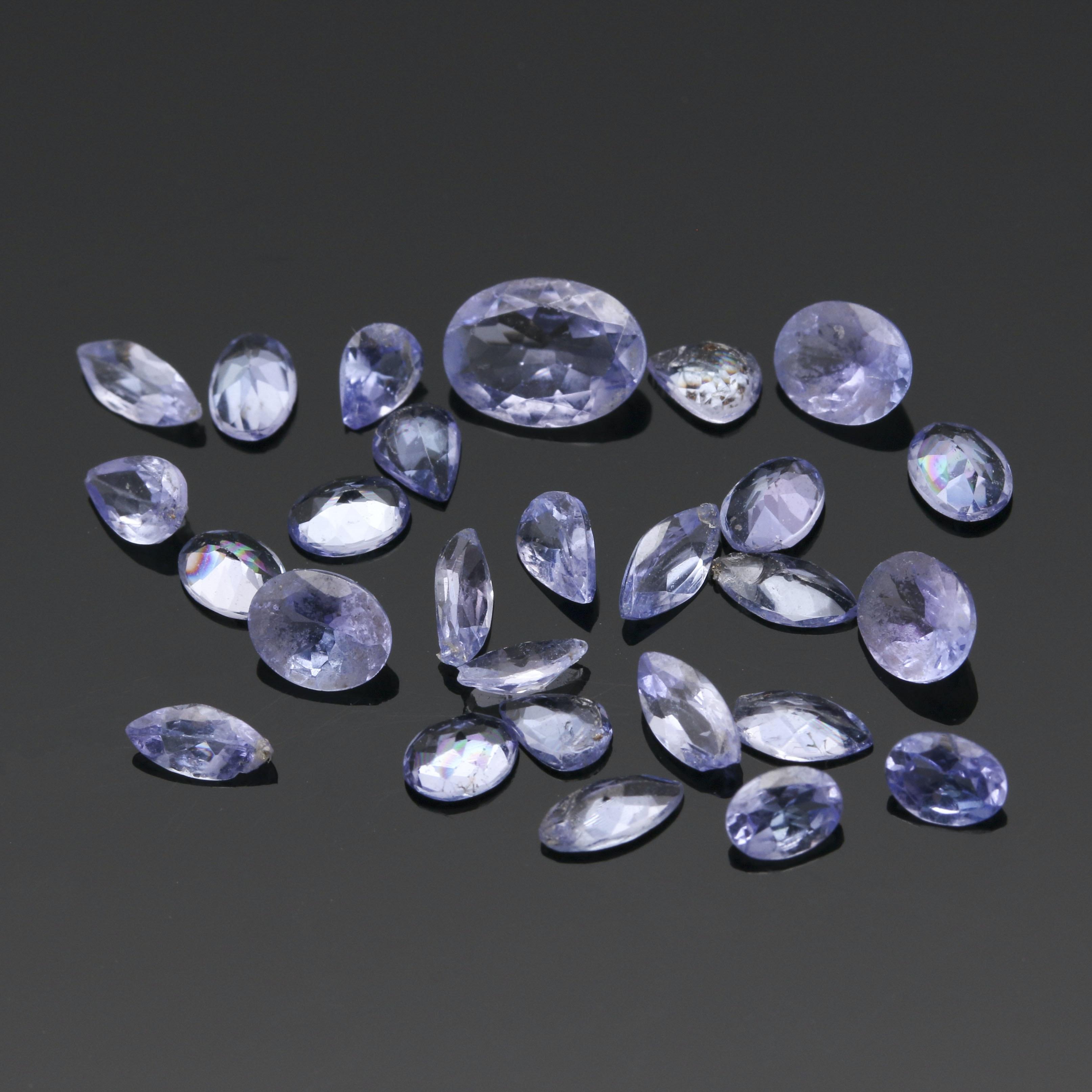 Loose 5.04 CTW Tanzanite Stones