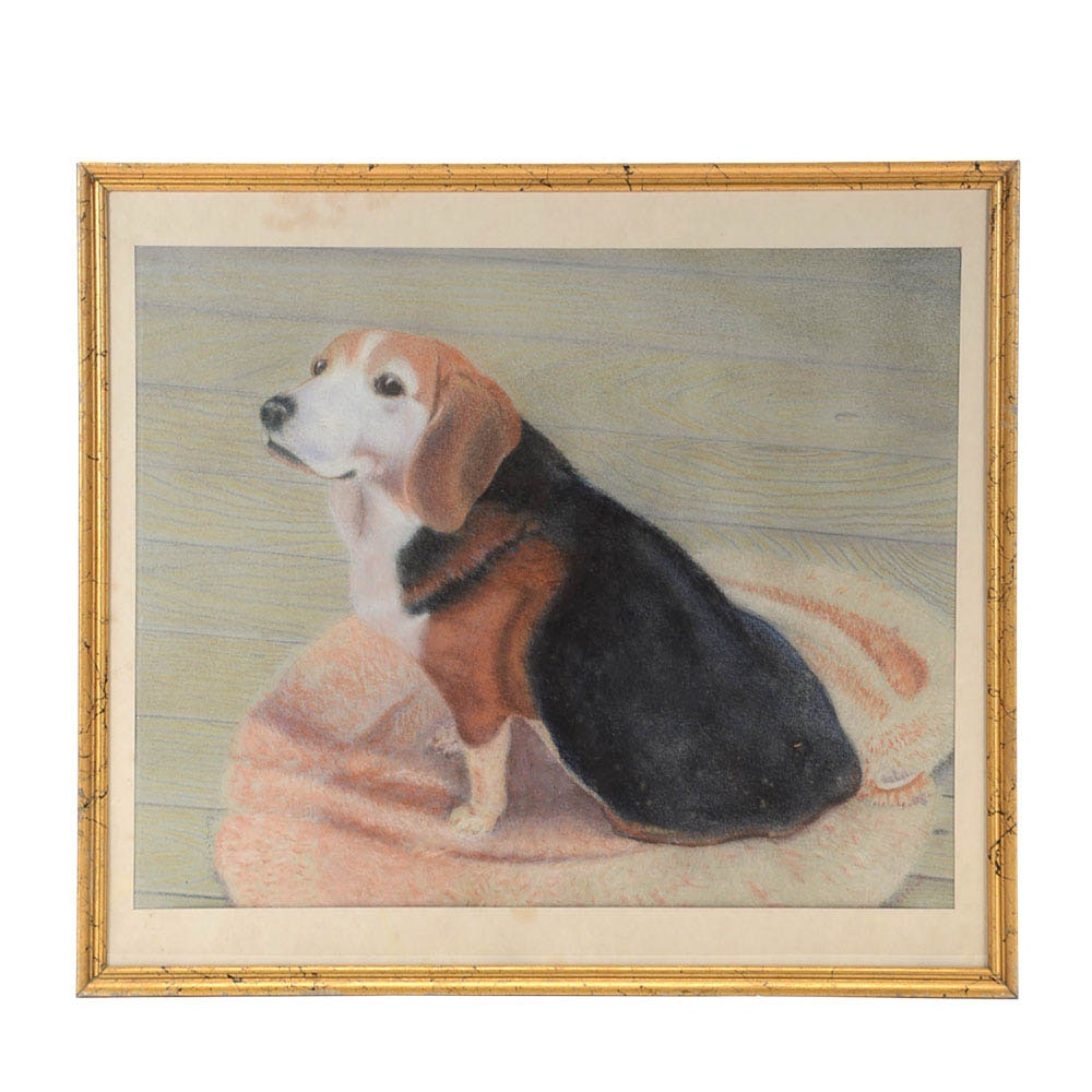 Clorinda Signed Original Pastel Dog Portrait on Paper