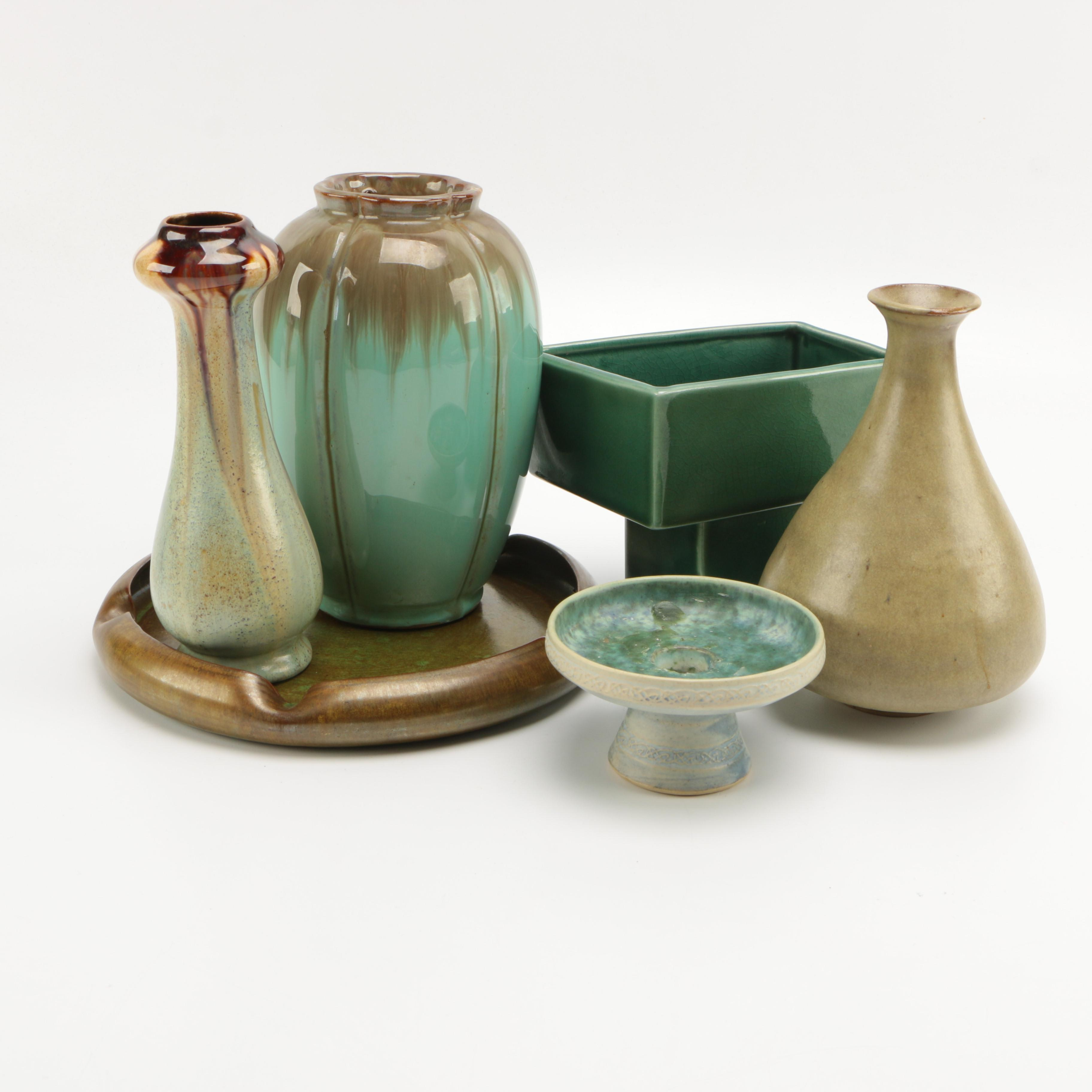 Green and Brown Pottery