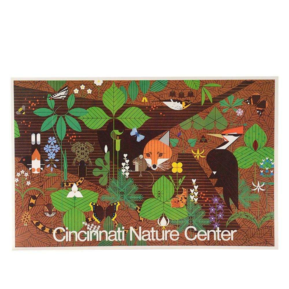 Charley Harper Hand-Signed Poster for Cincinnati Nature Center