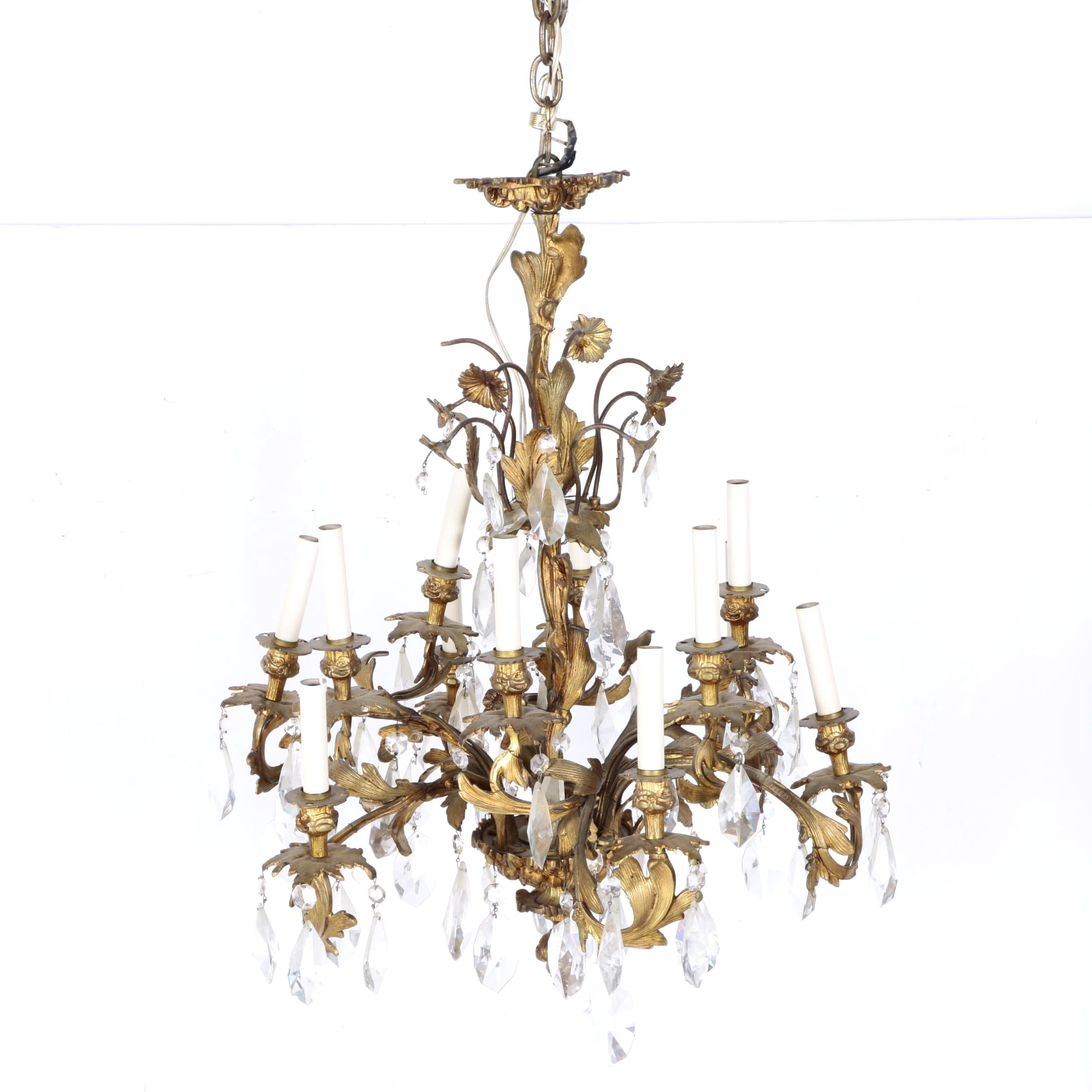 Louis XIV Rococo Style Chandelier