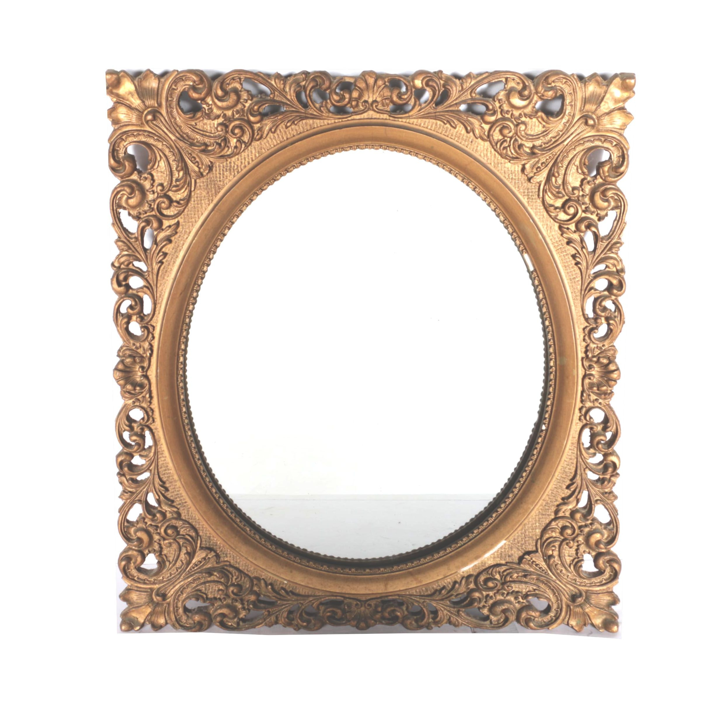 Antique Gold Tone Frame With Mirror