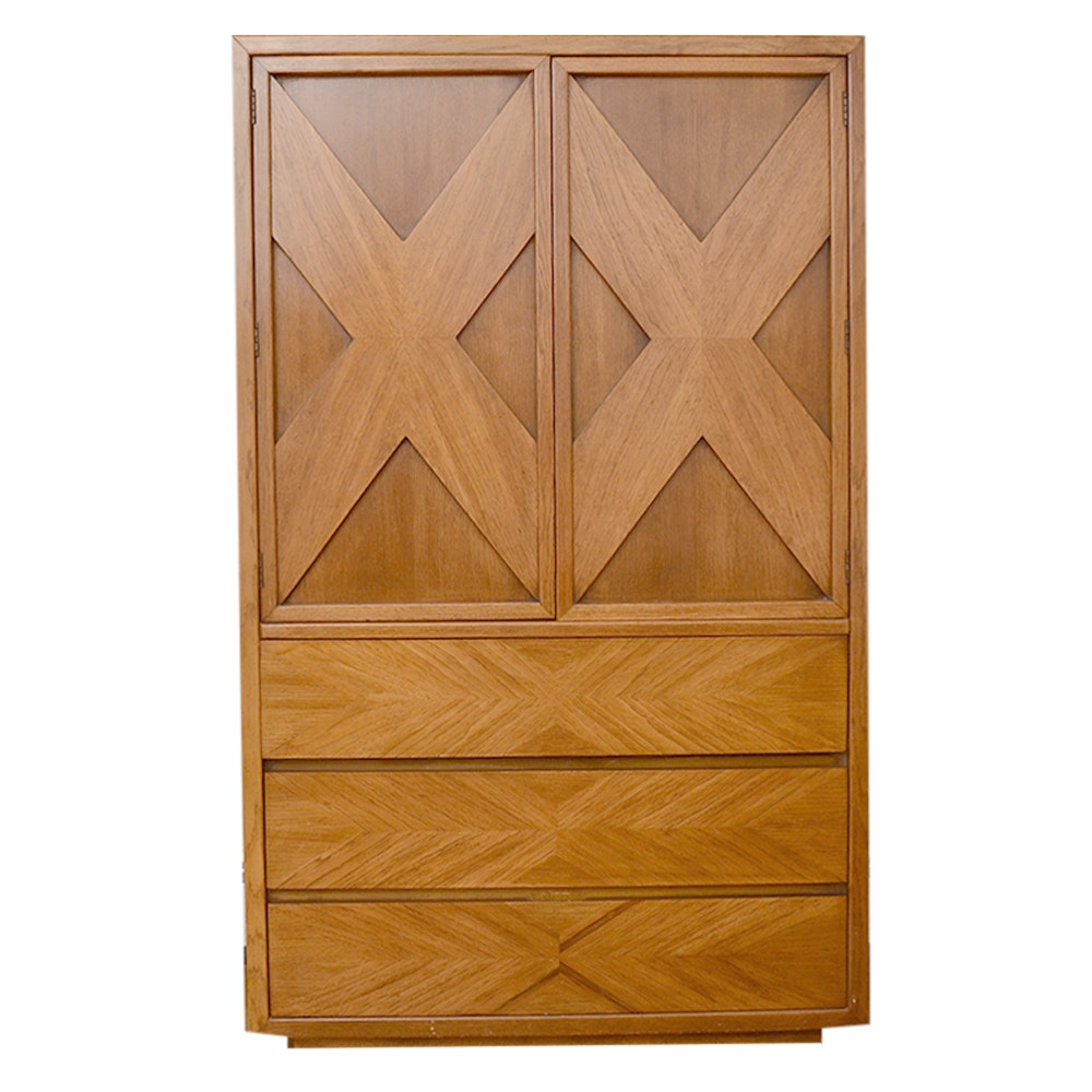 Vintage Oak Wardrobe by Lane