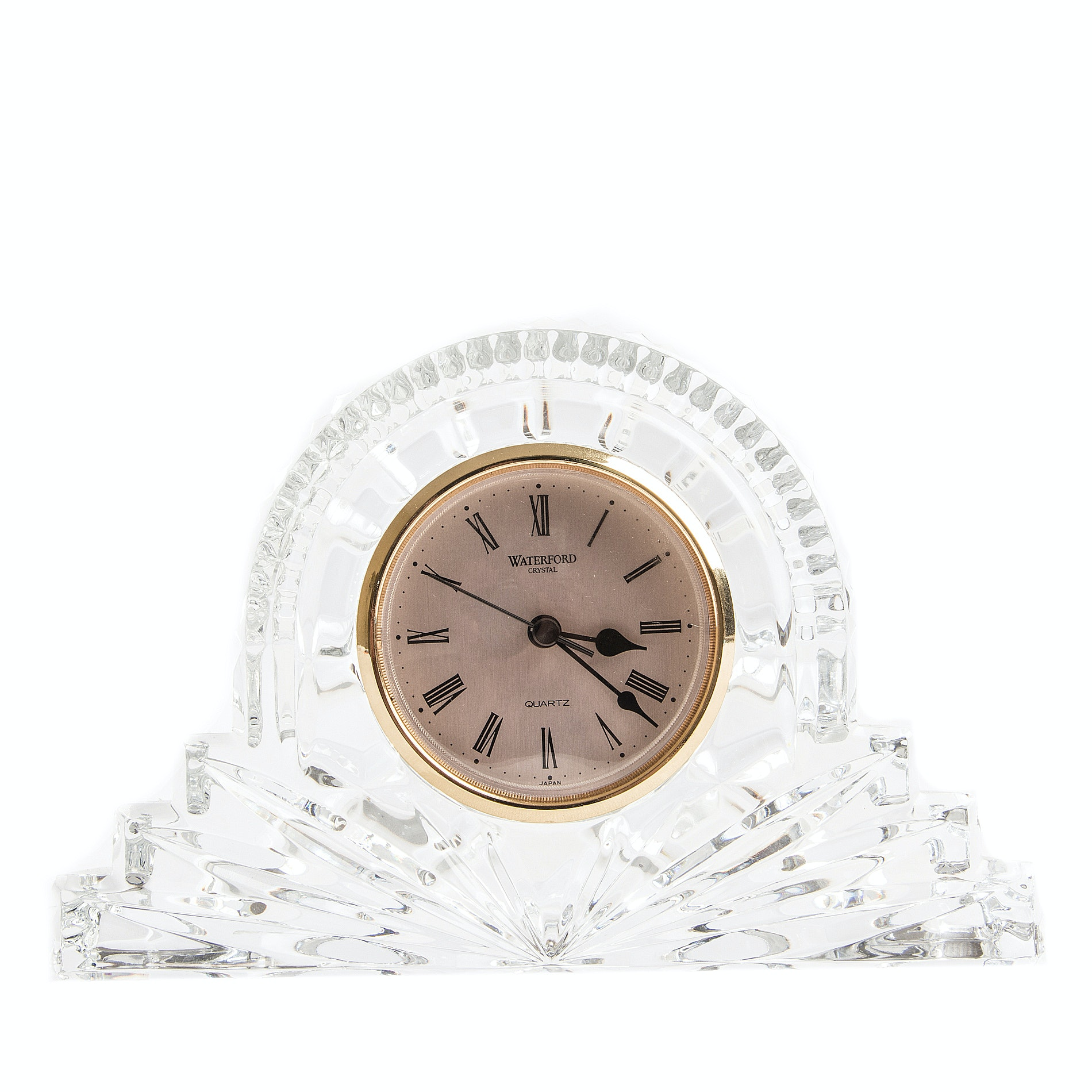 """""""Wharton"""" Crystal Desk Clock by Waterford"""