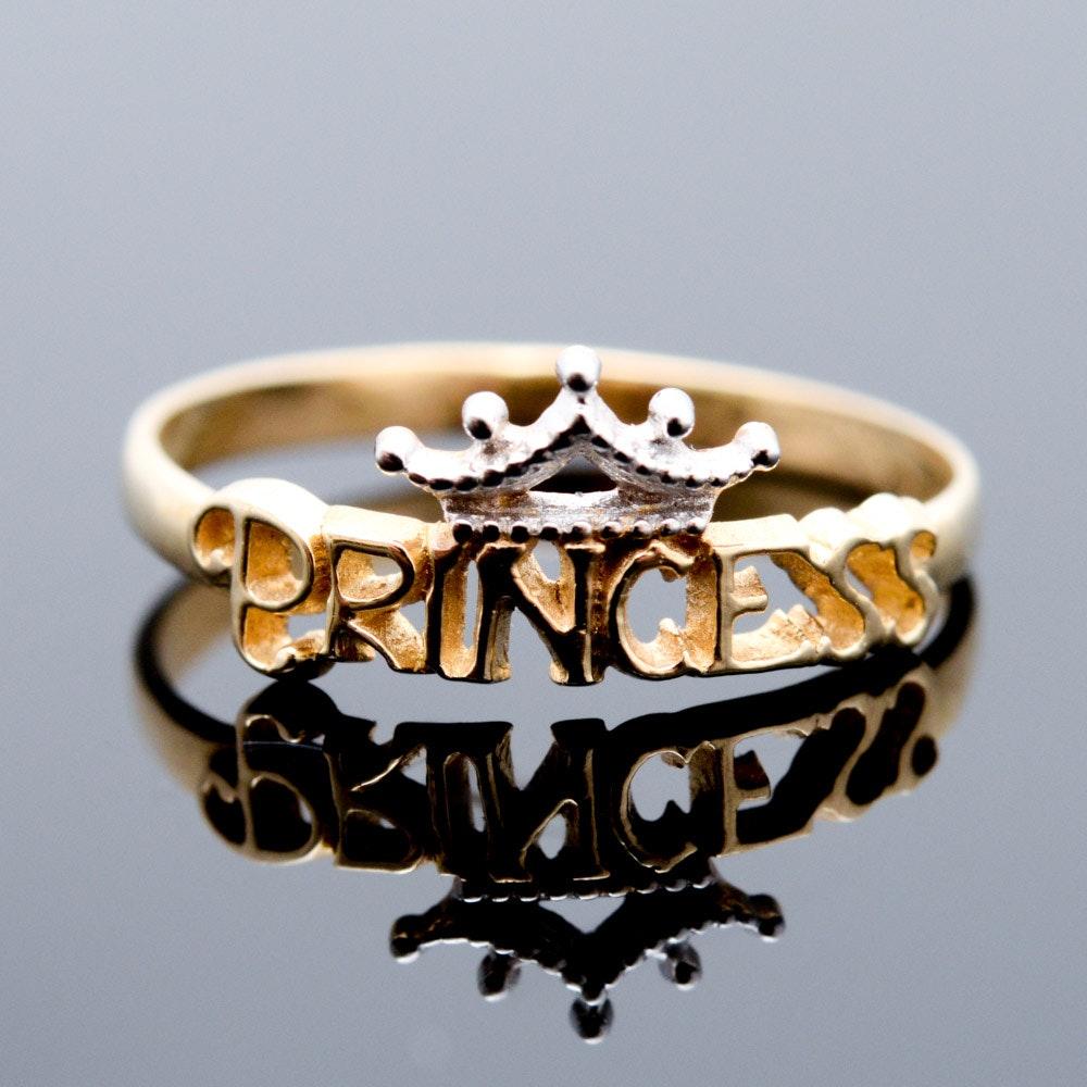 "10K Yellow Gold ""Princess"" Ring"