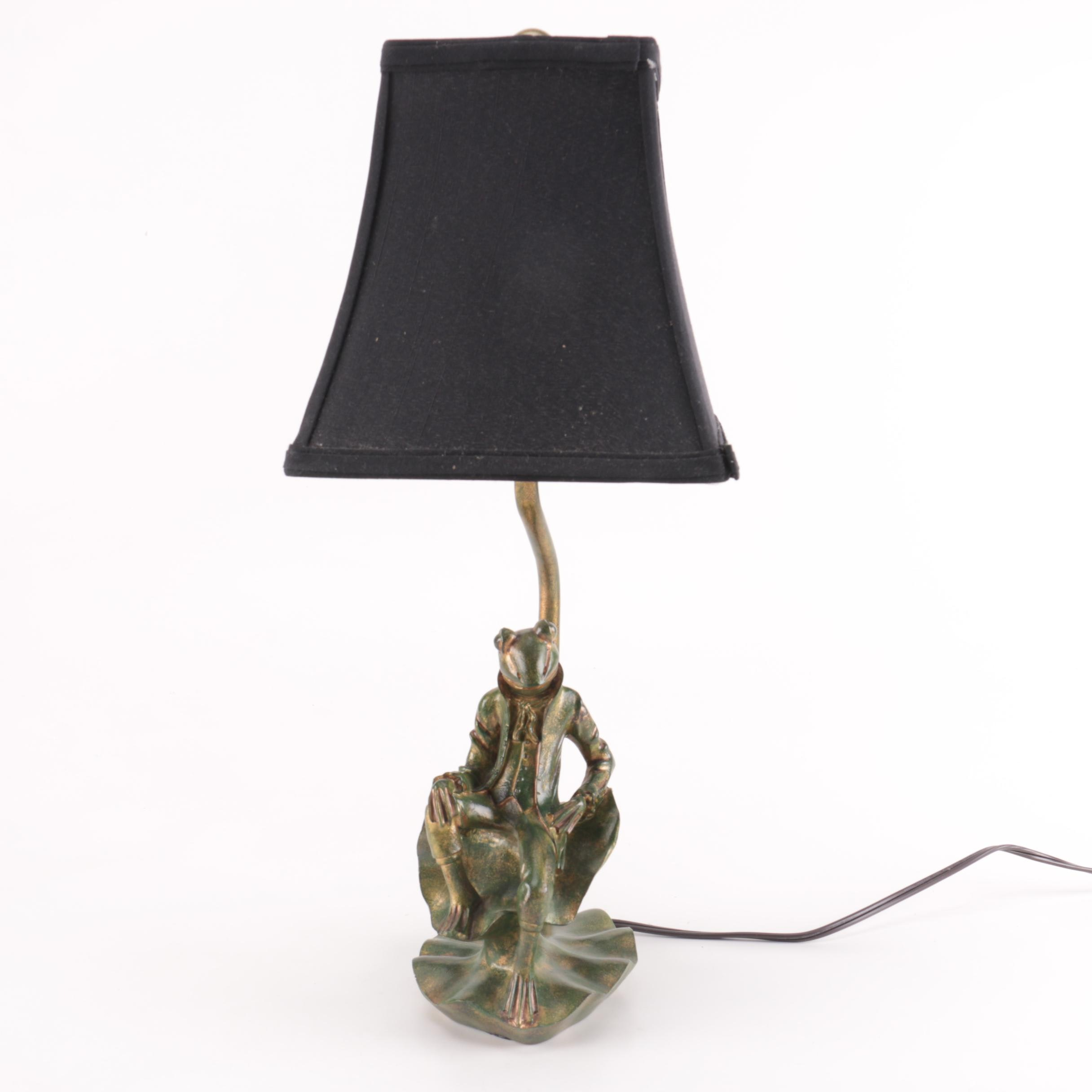 Figural Frog Table Lamp