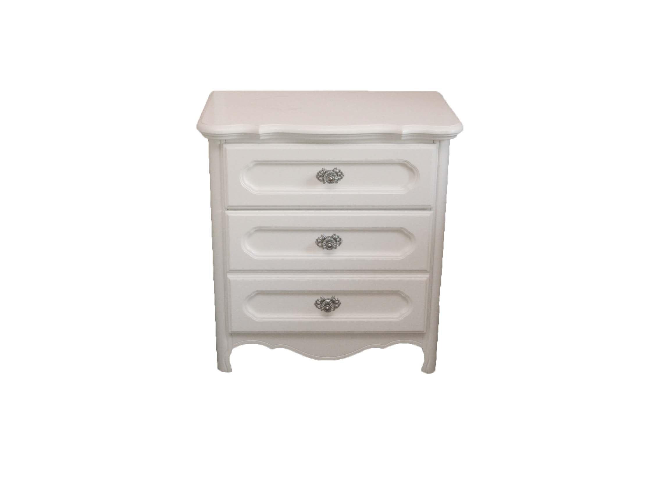 White Wooden Nightstand