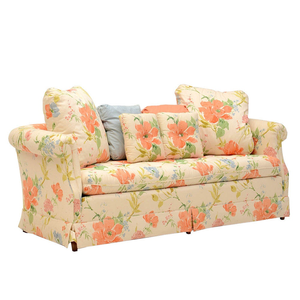 Henredon Floral Print Sofa ...