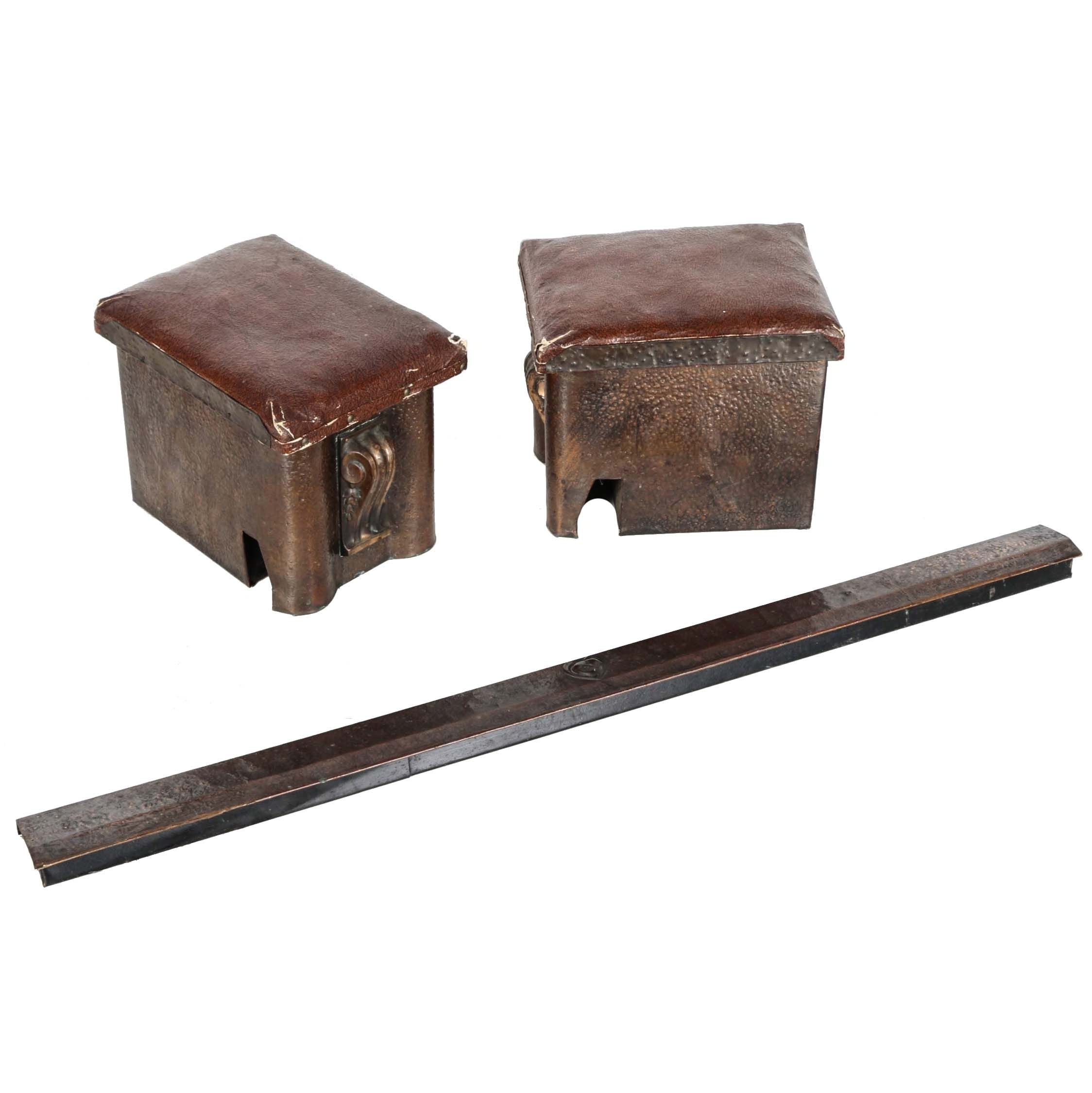 Antique Fireplace Fender With Kindling Boxes