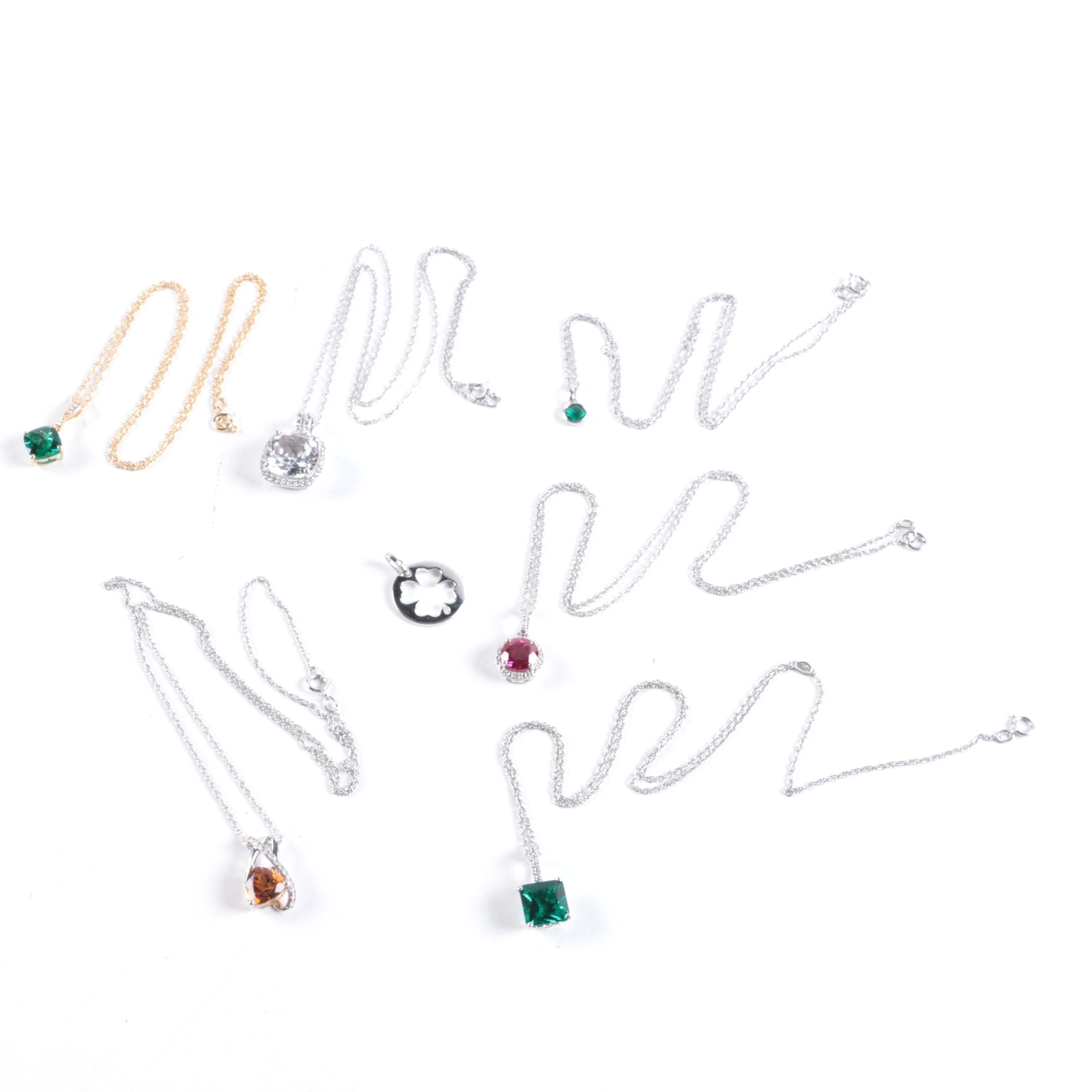 Sterling Silver and Gemstone Necklace Assortment