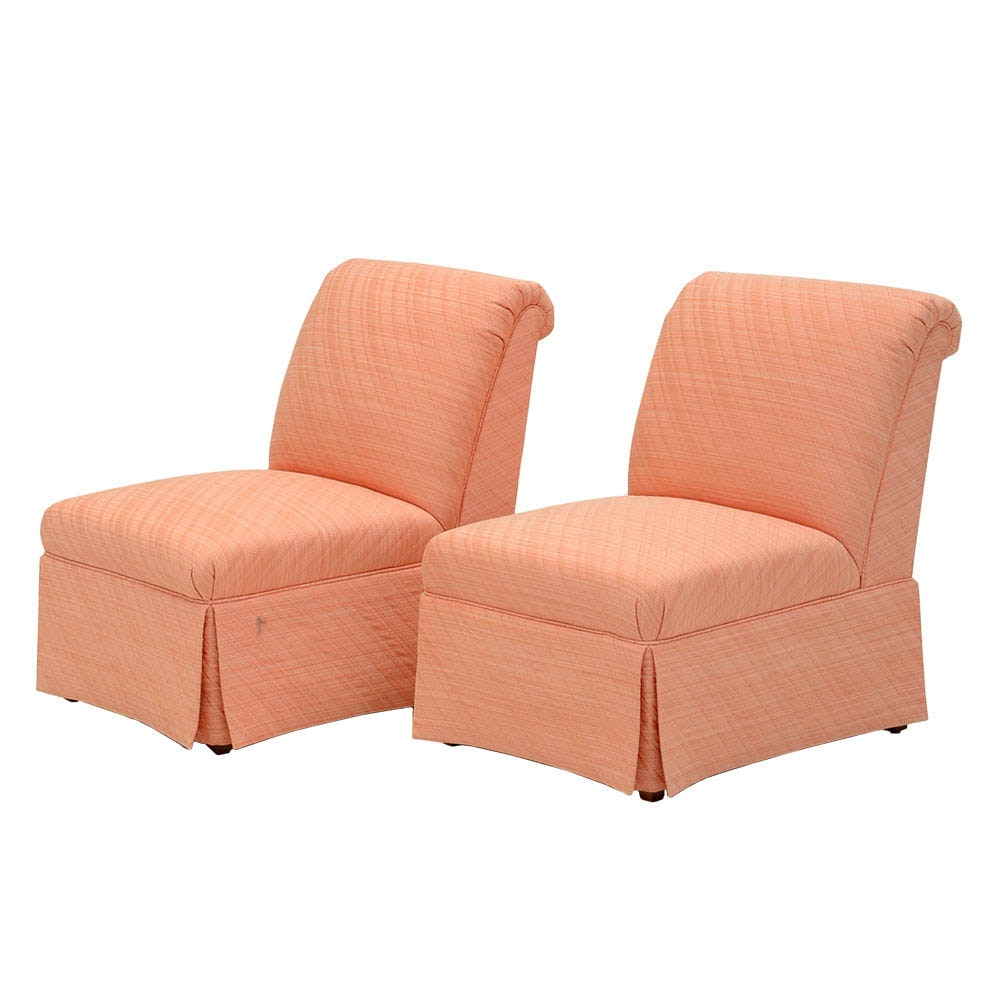 Pair of Armless Lounge Chairs by Baker