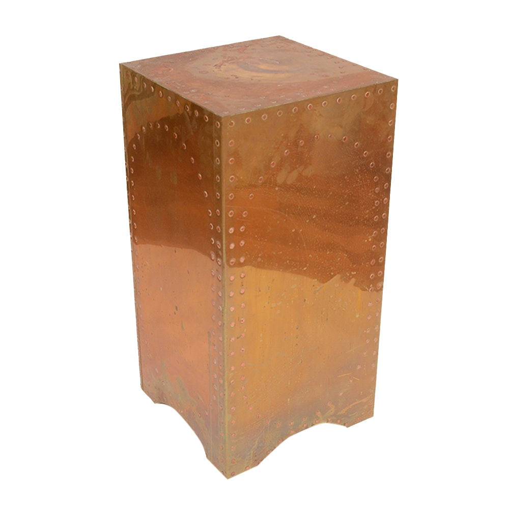 Riveted Square Copper Stand