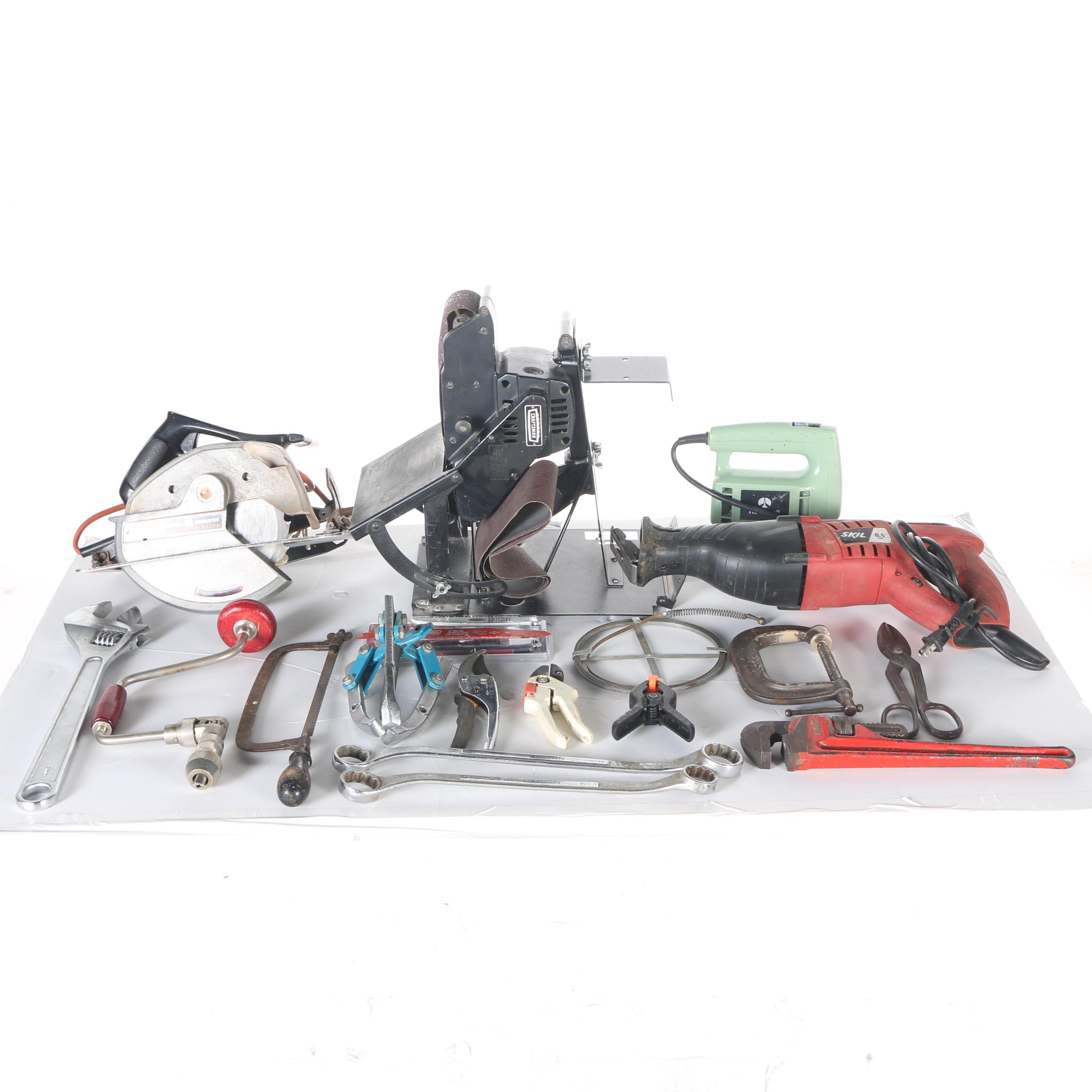 Assortment of Power and Manual Tools