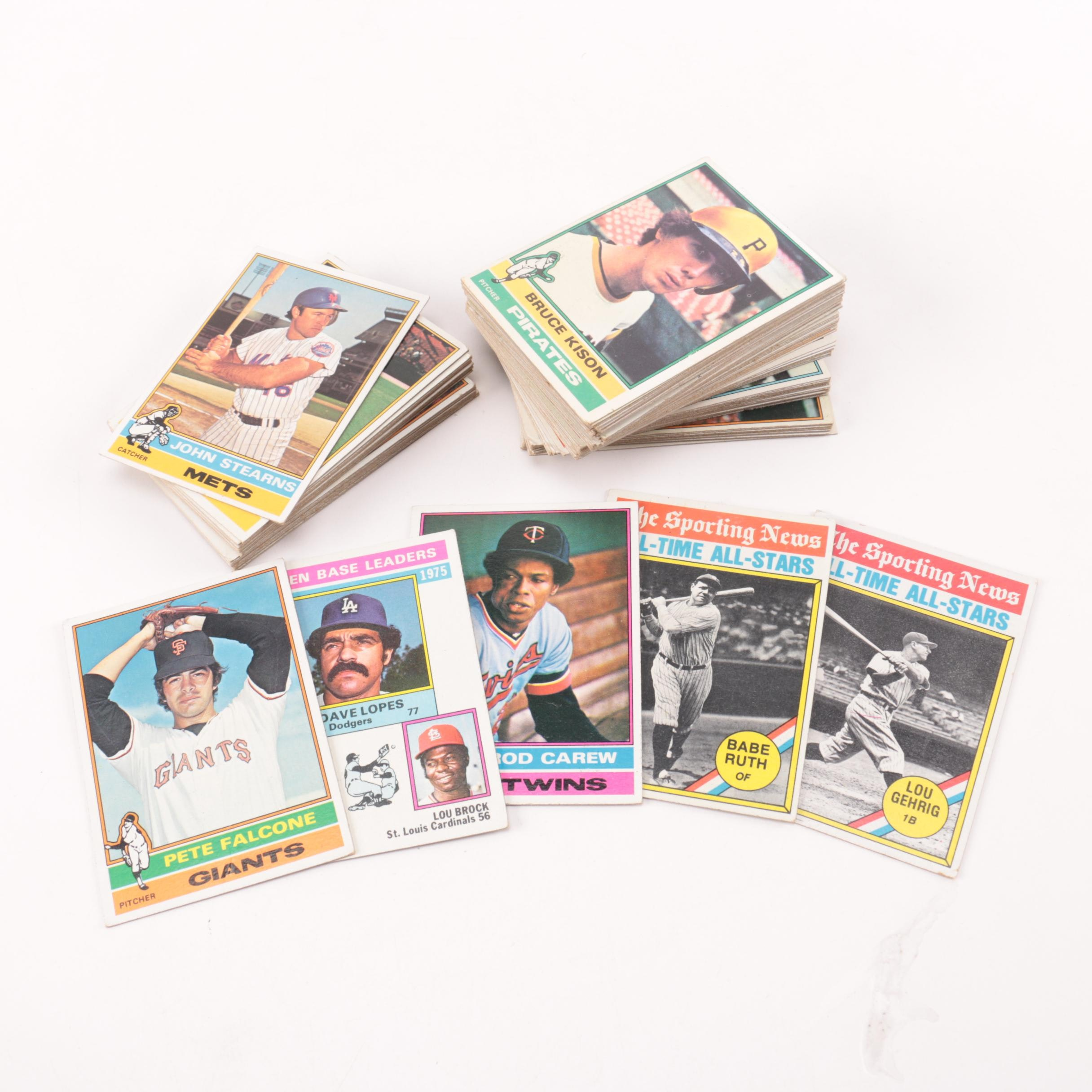 Collection of 1976 Topps Baseball Cards