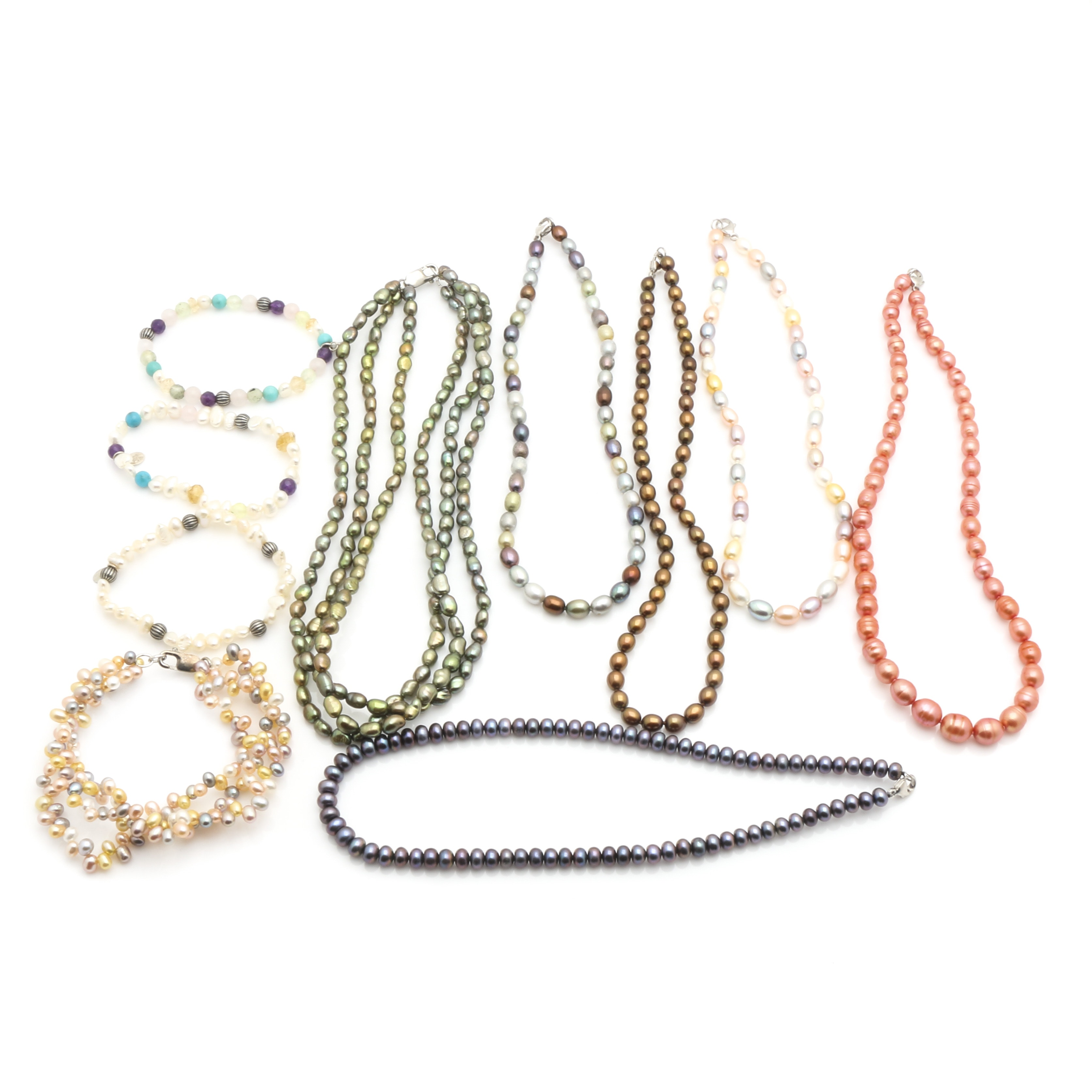 Cultured Freshwater Pearl Jewelry Including Sterling