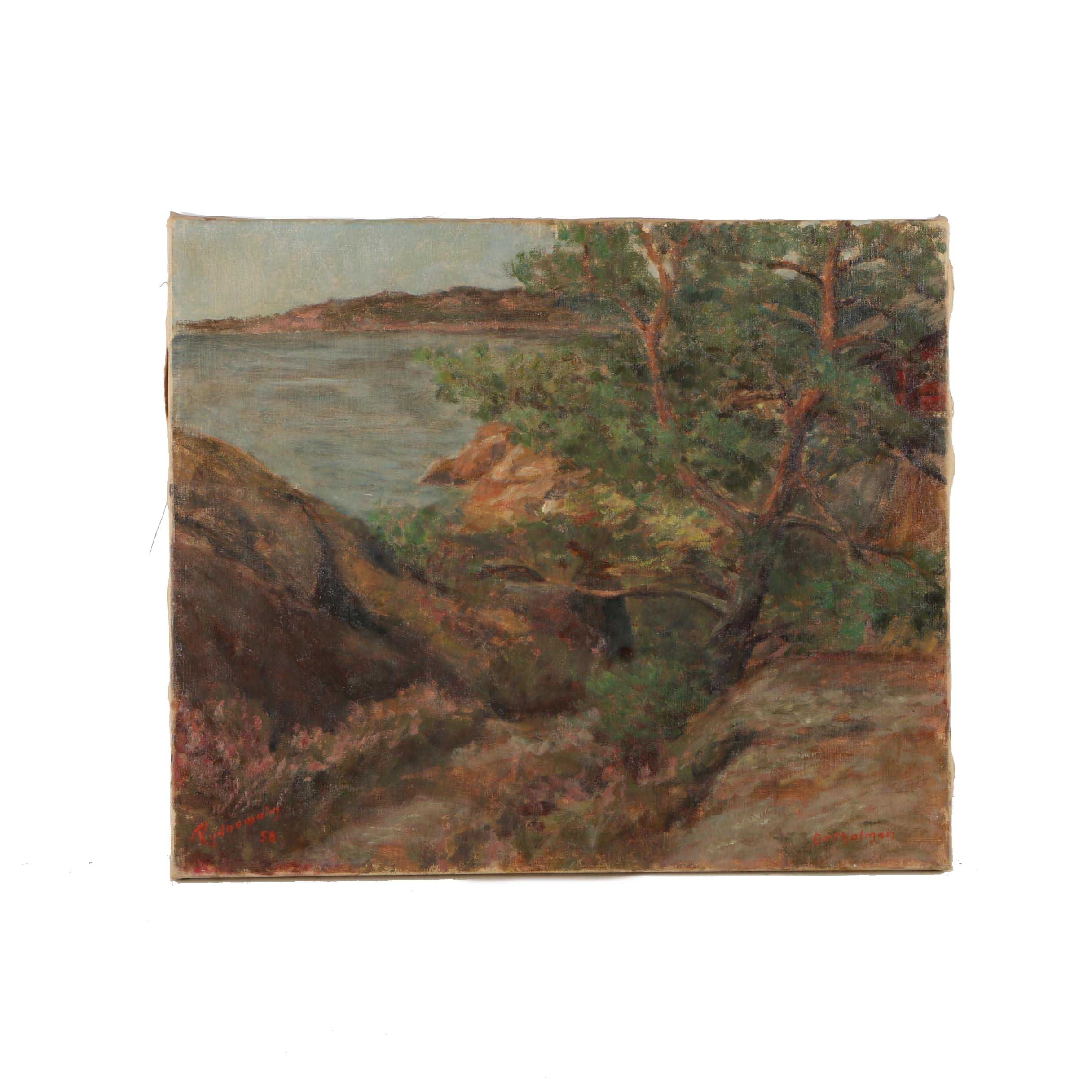 Rydnemalm Oil Painting on Canvas of Coastal Scene