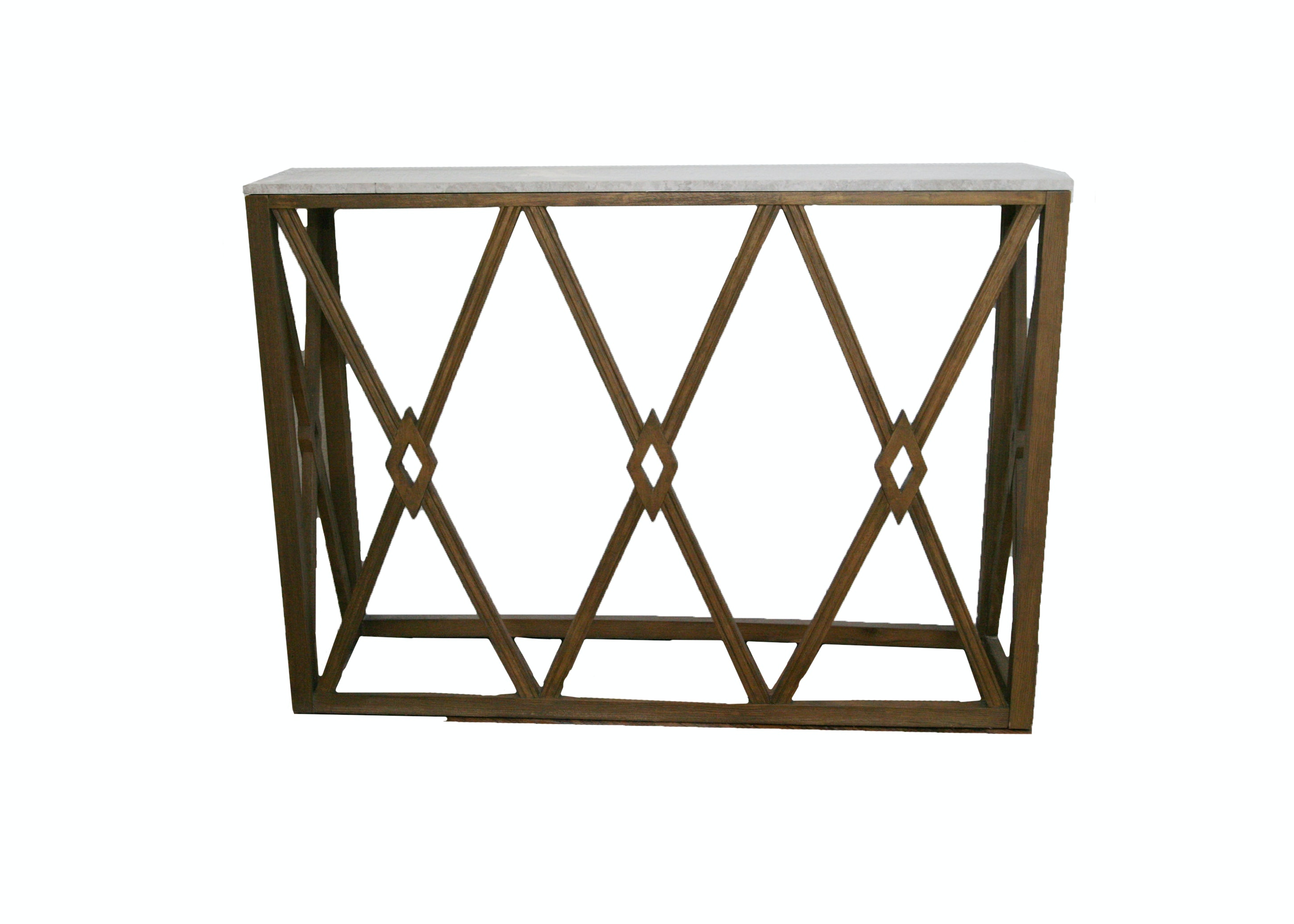 Gray Marble Top Console Table
