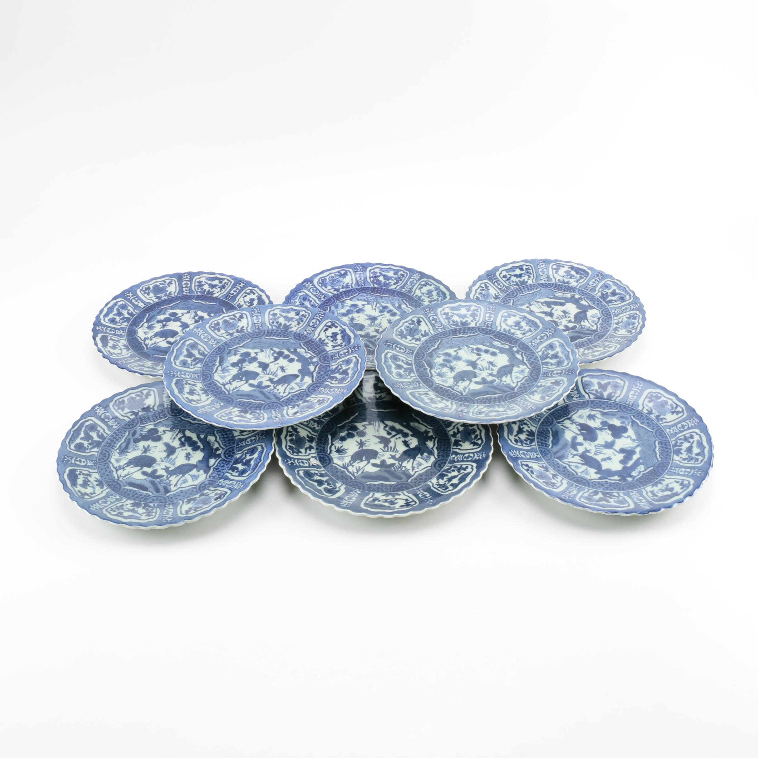 Kraak Style Chinese Porcelain Plates