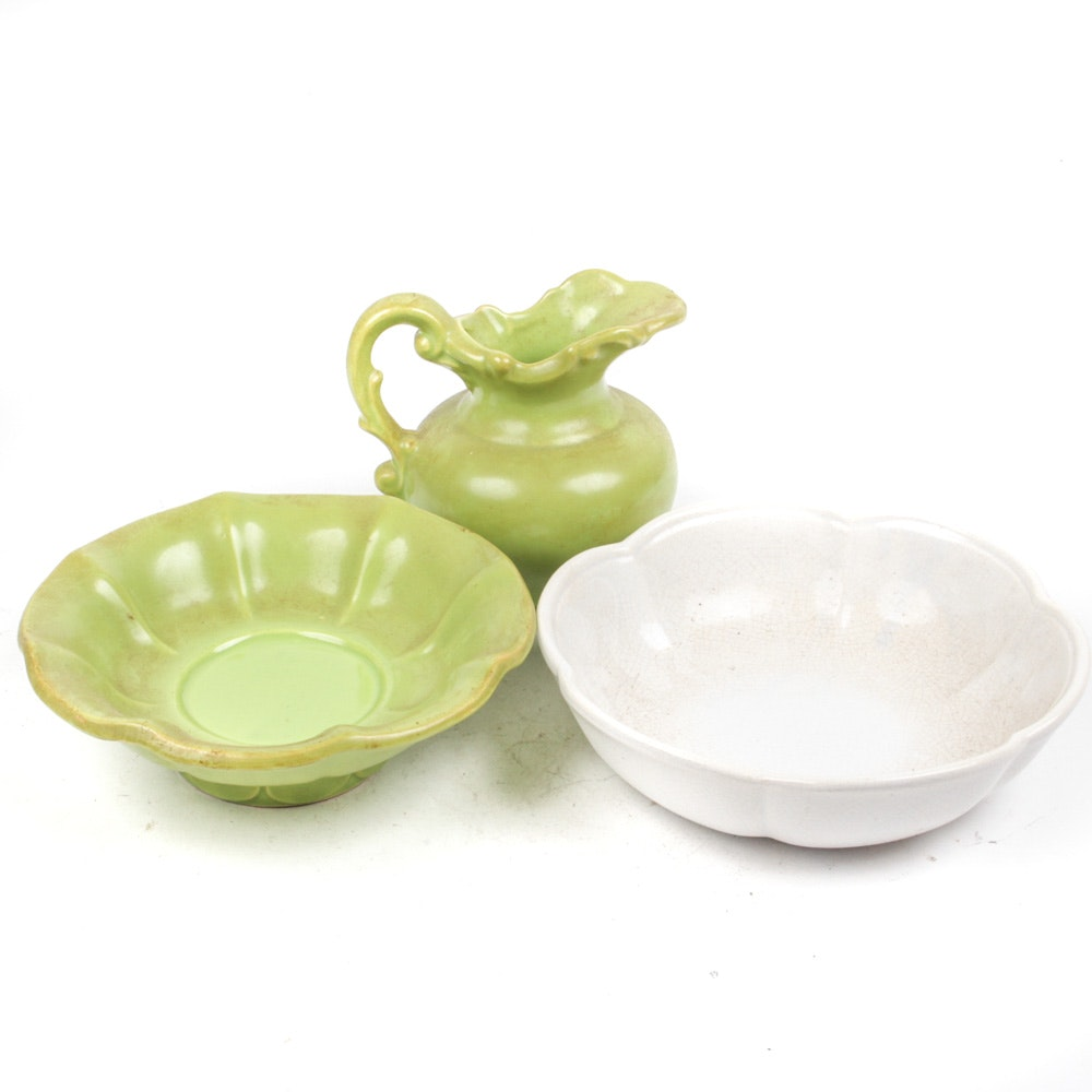 McCoy Bowls and Pitcher