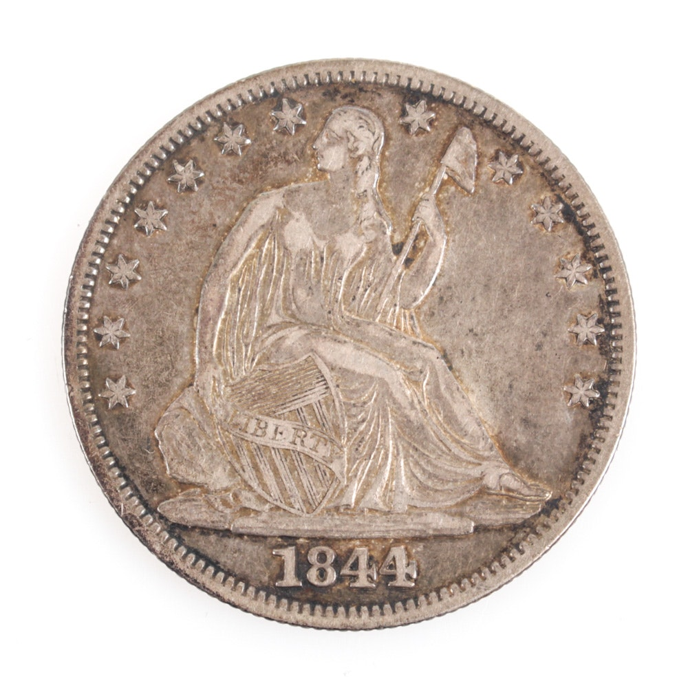 United States 1844 Seated Liberty Silver Half Dollar