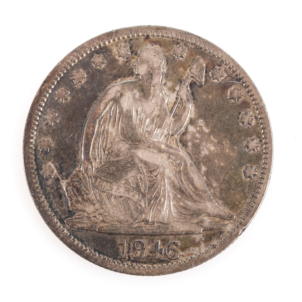 United States 1846 Seated Liberty Silver Half Dollar