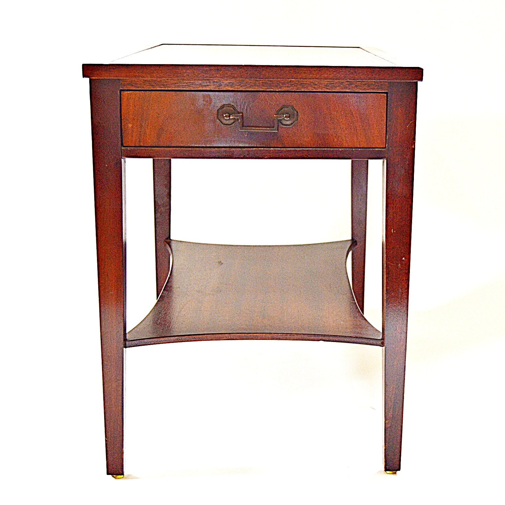 Vintage Hepplewhite Style Mahogany Side Table