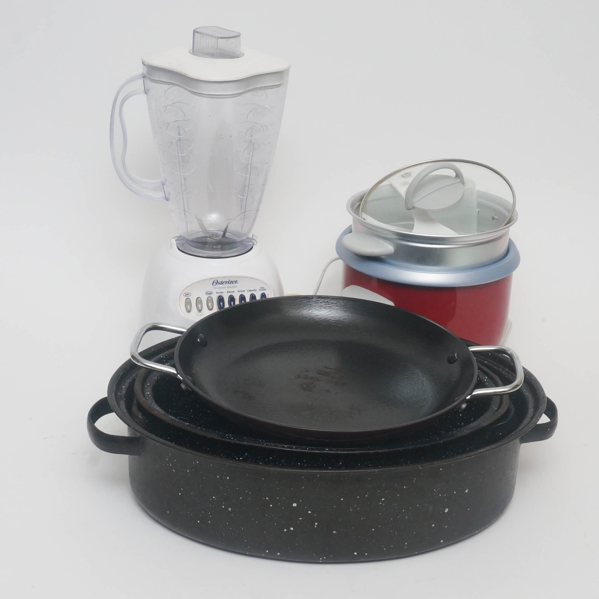 Assortment of Kitchen Appliances and Cookware