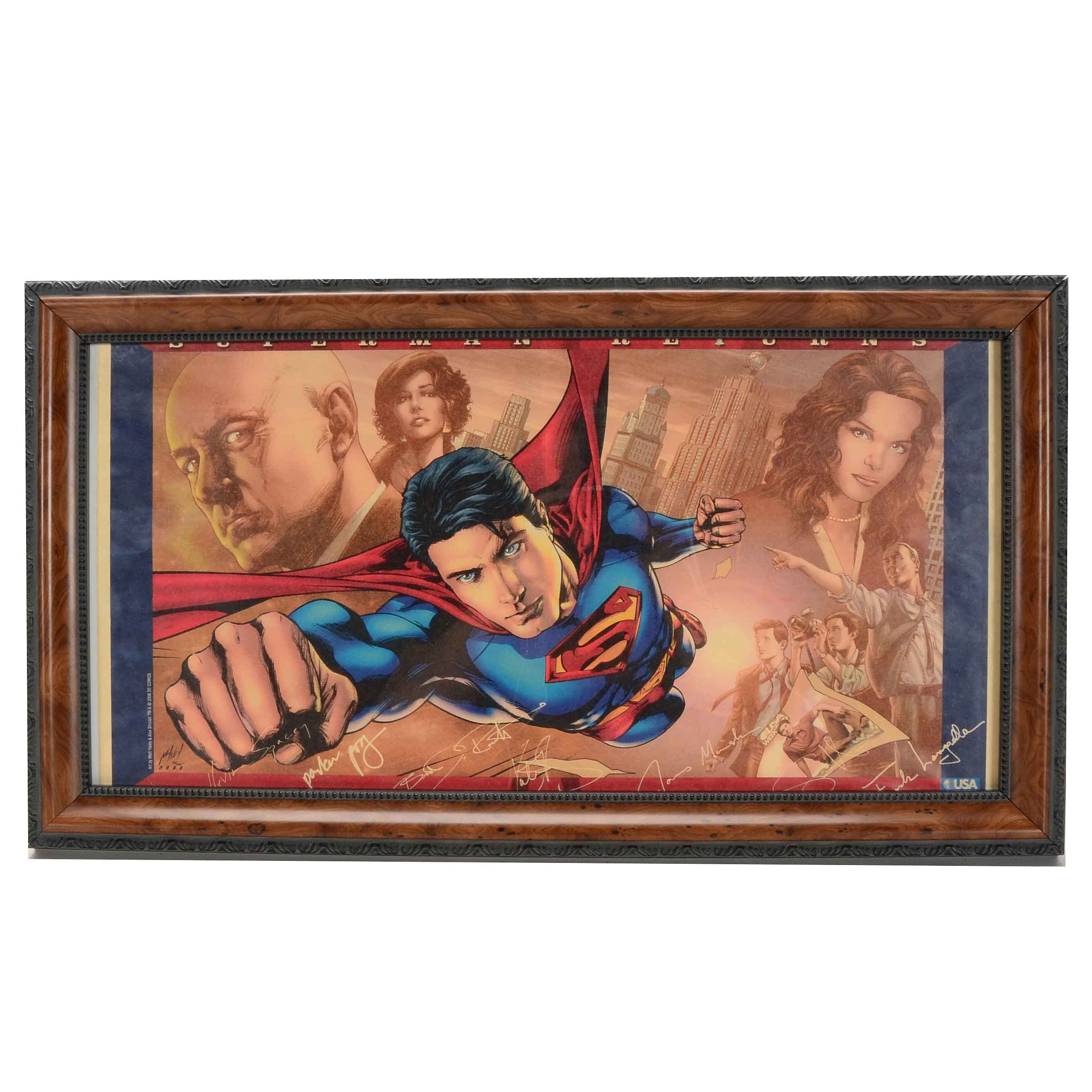 Framed Superman Returns Promotional Foldout