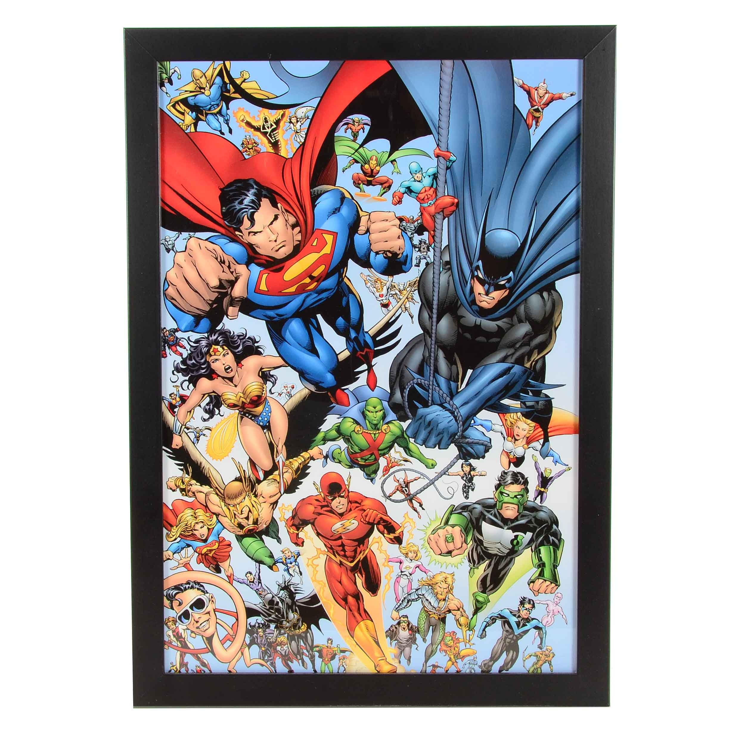 Framed DC Comics Offset Lithograph Poster