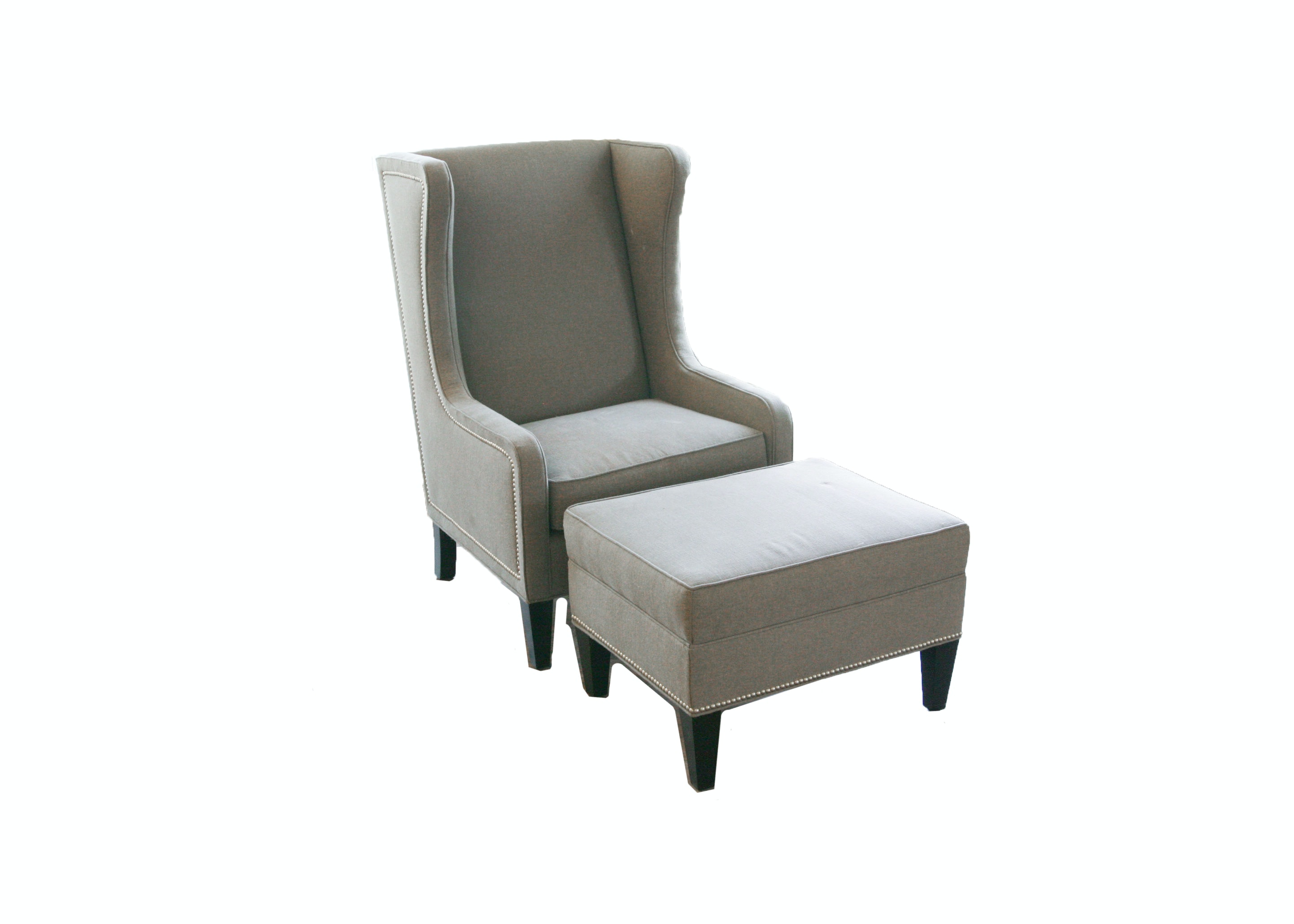 Gabby Furniture Upholstered Arm Chair and Ottoman