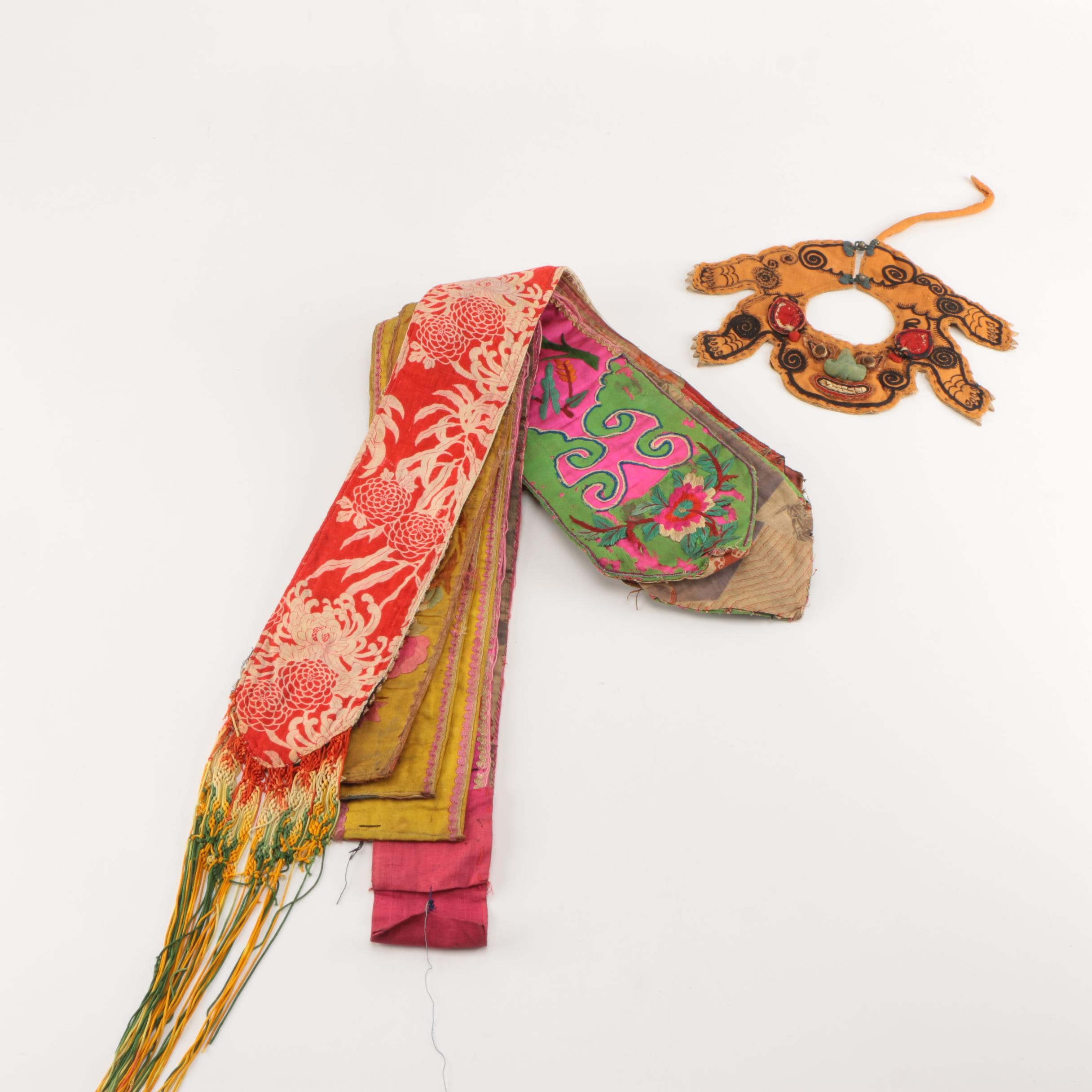 Chinese Embroidered Collars, Textiles and Decor
