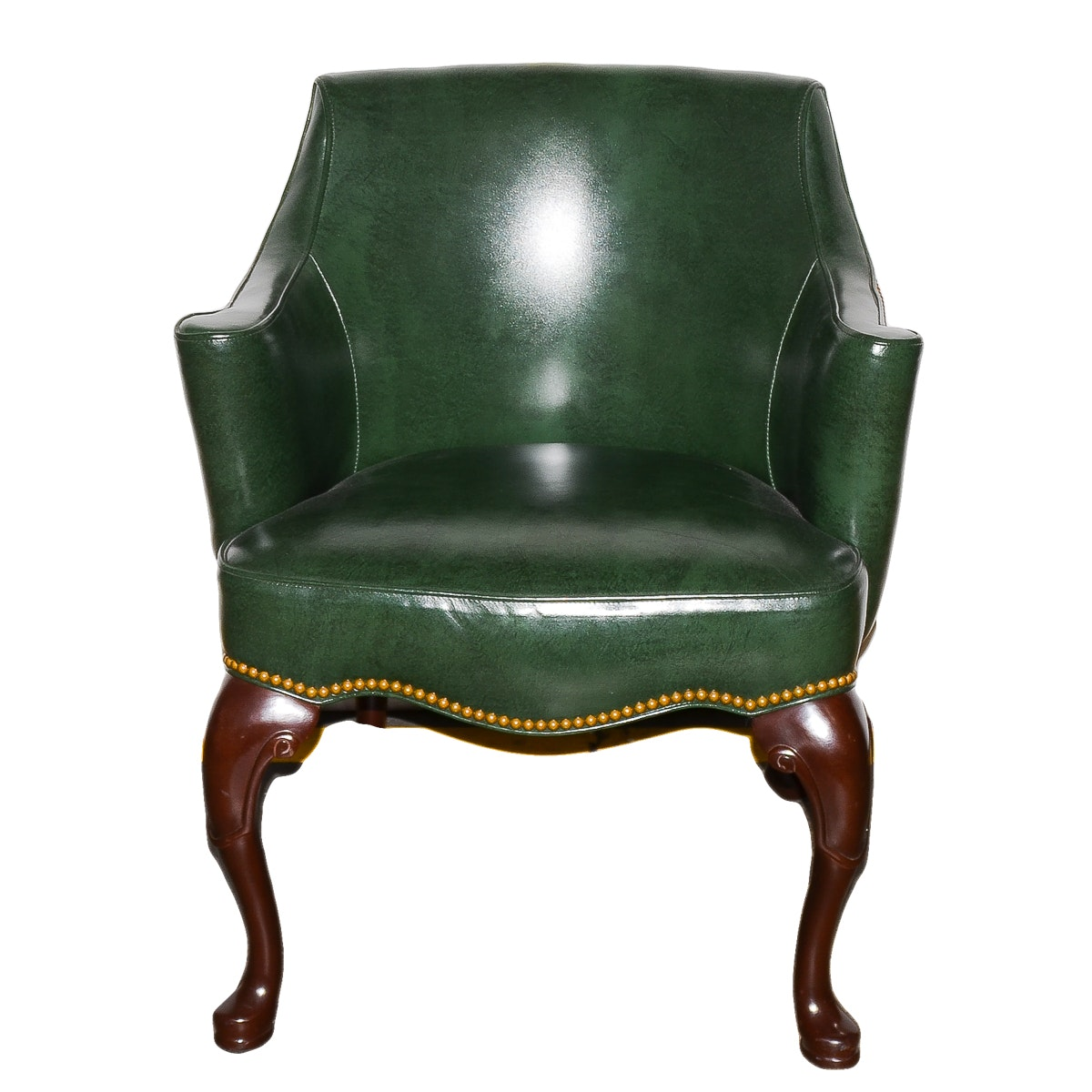 Hancock & Moore Leather Chair With Pillow