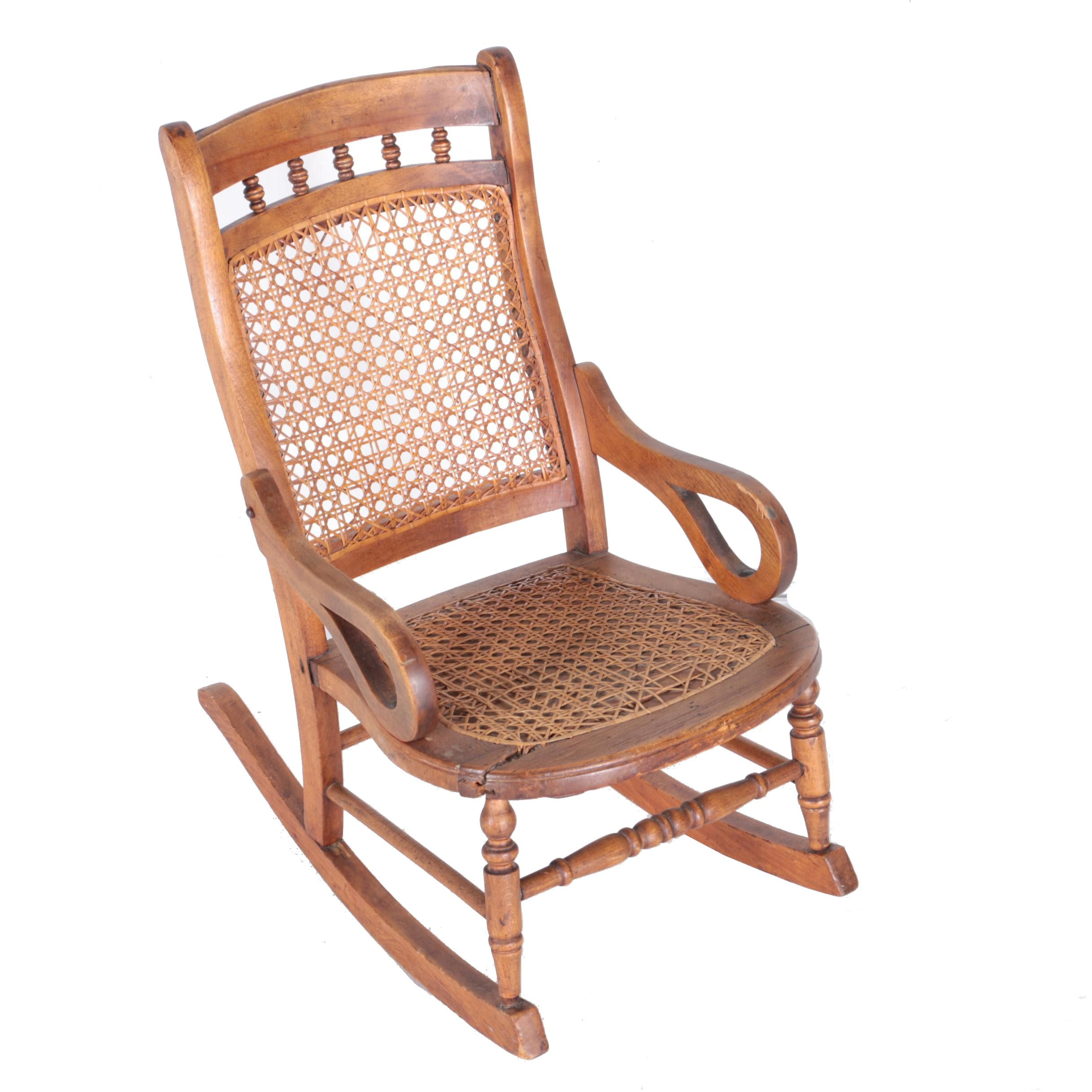 Child's Caned Seat Rocking Chair
