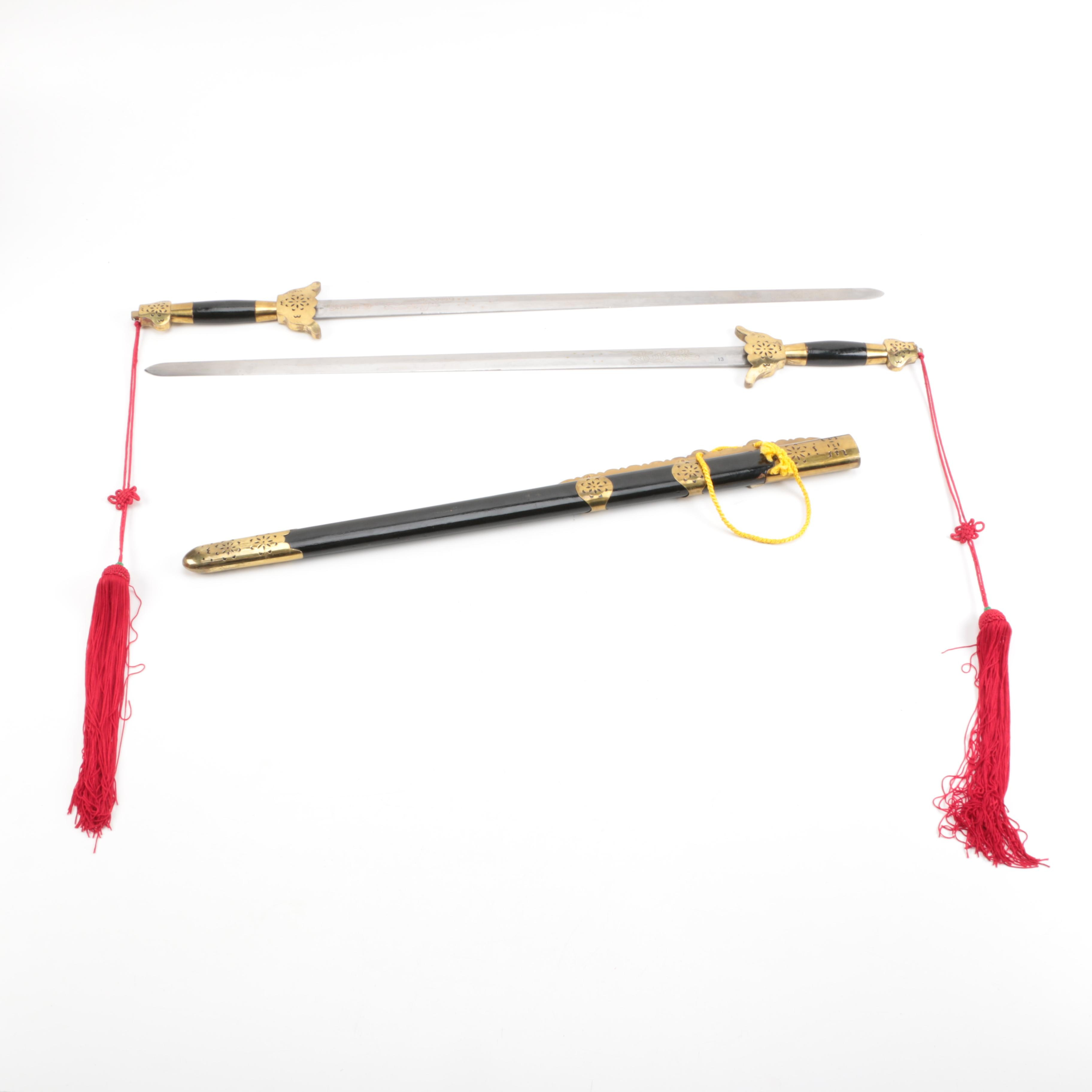 Jian Swords with Scabbard