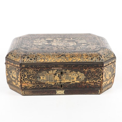 Vintage Chinese Hand Painted Box