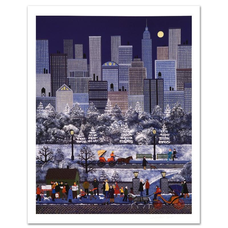 """Jane Wooster Scott """"New York, New York"""" Limited Edition Lithograph"""
