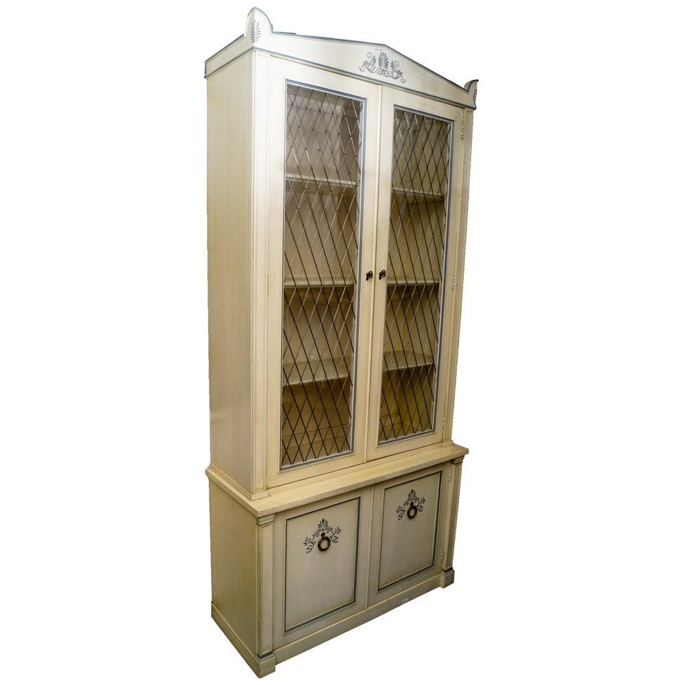 White Painted Wood China Cabinet