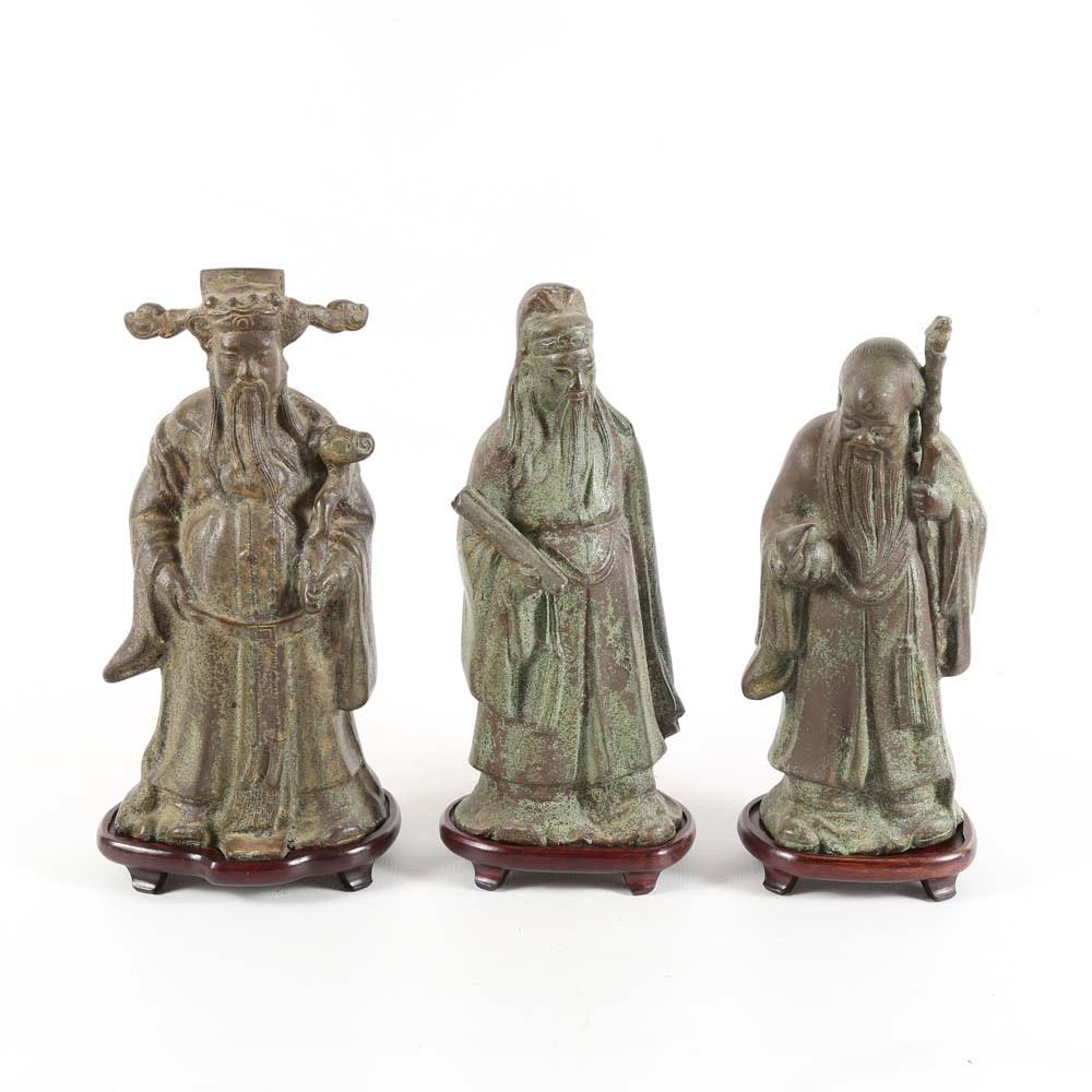 Iron Asian Emperor Sculptures