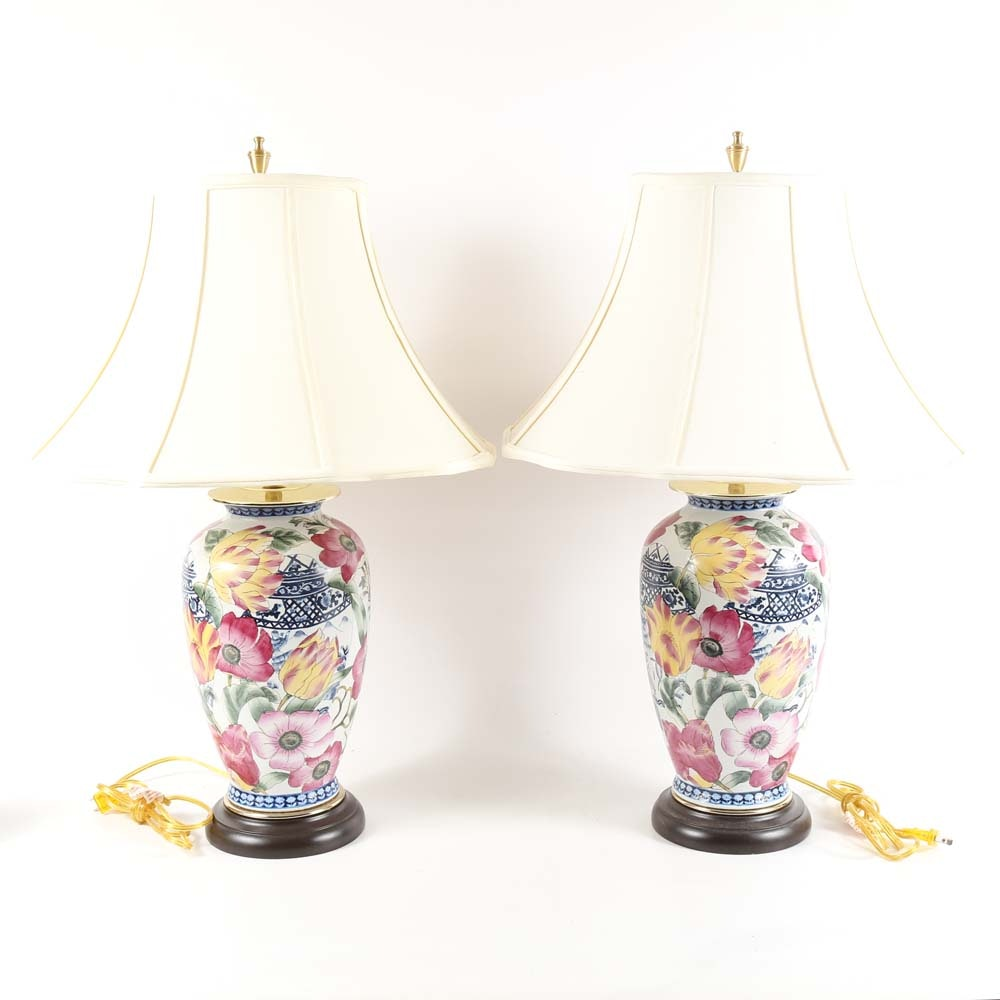Porcelain Table Lamps by Oriental Accent