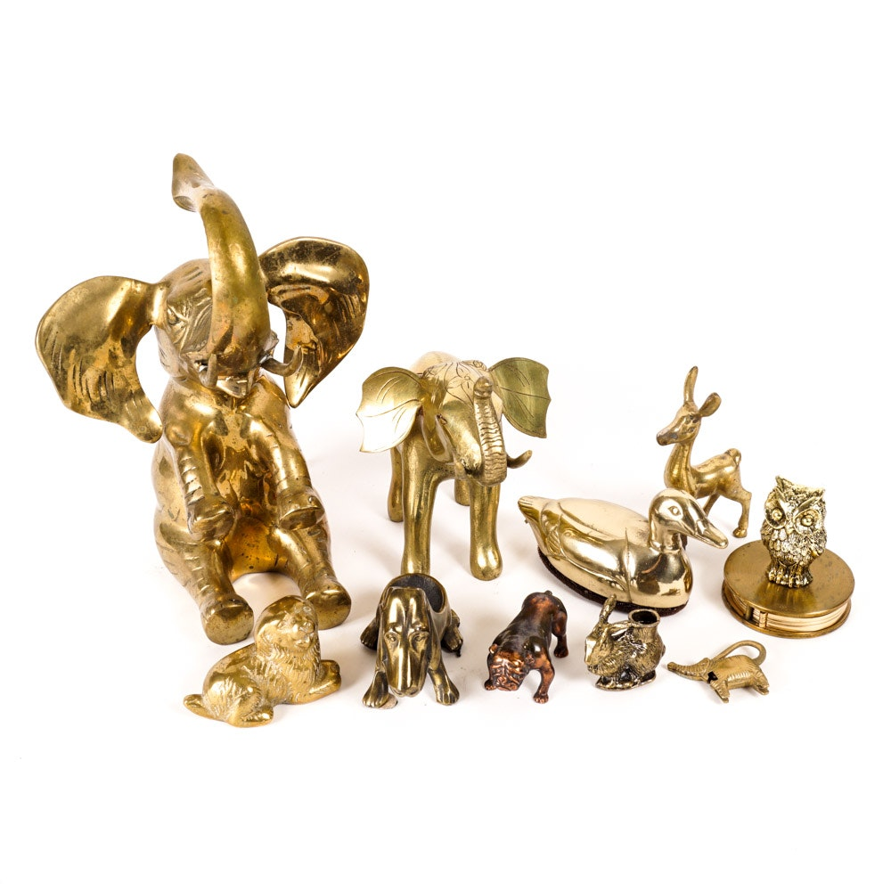 Menagerie of Brass Animal Decor