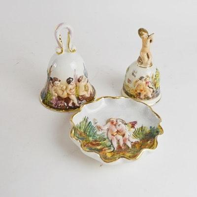Vintage Capodimonte Style Porcelain Decor