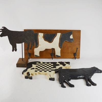 Cow Coat Hook and Other Cows