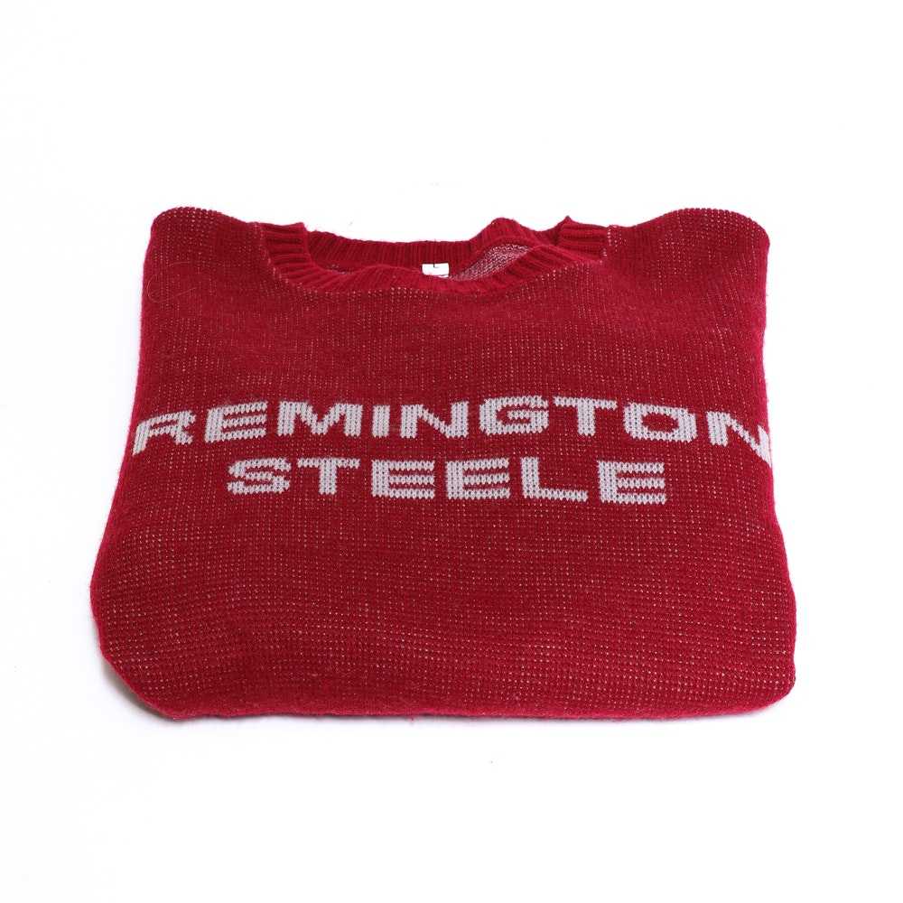 """Remington Steele"" Red Knit Sweater"