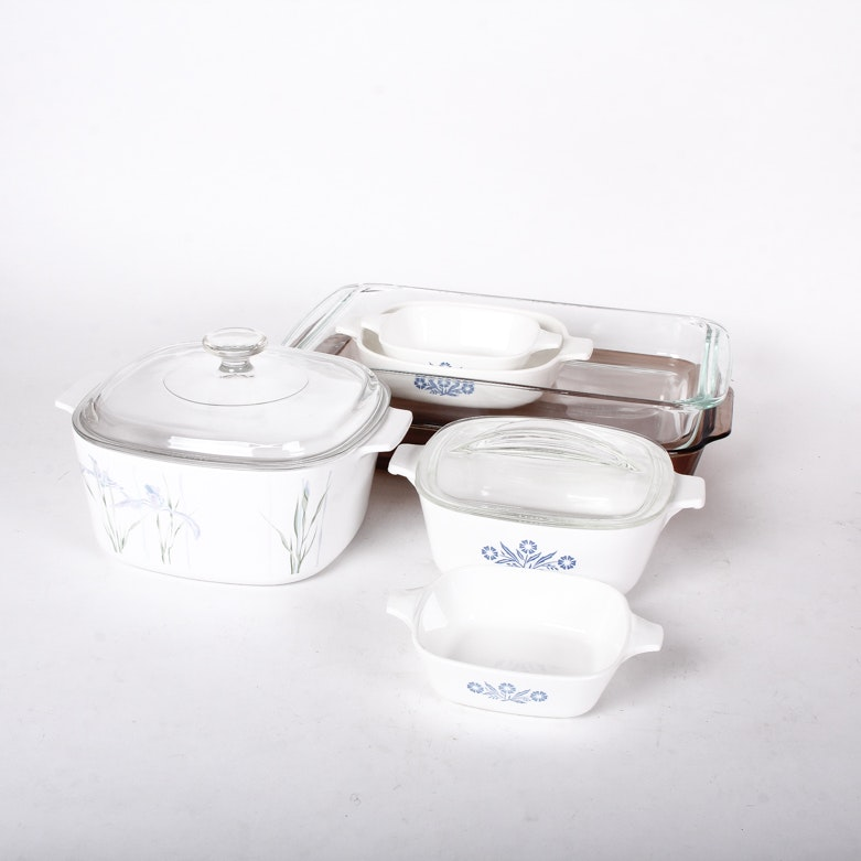 Collection of  Vintage Cookware including Corning Ware and Pyrex